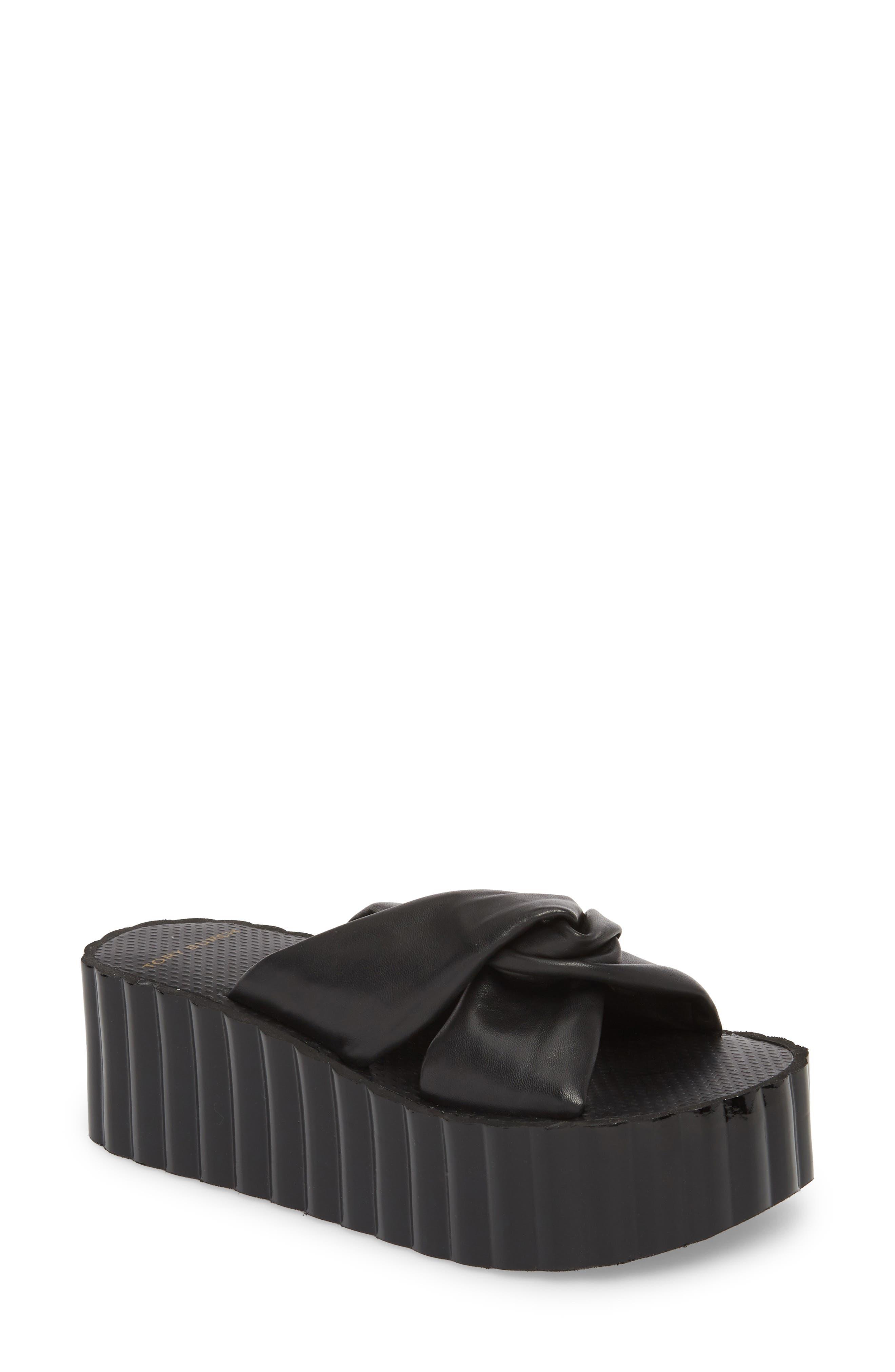 TORY BURCH Scallop Platform Slide Sandal, Main, color, 006