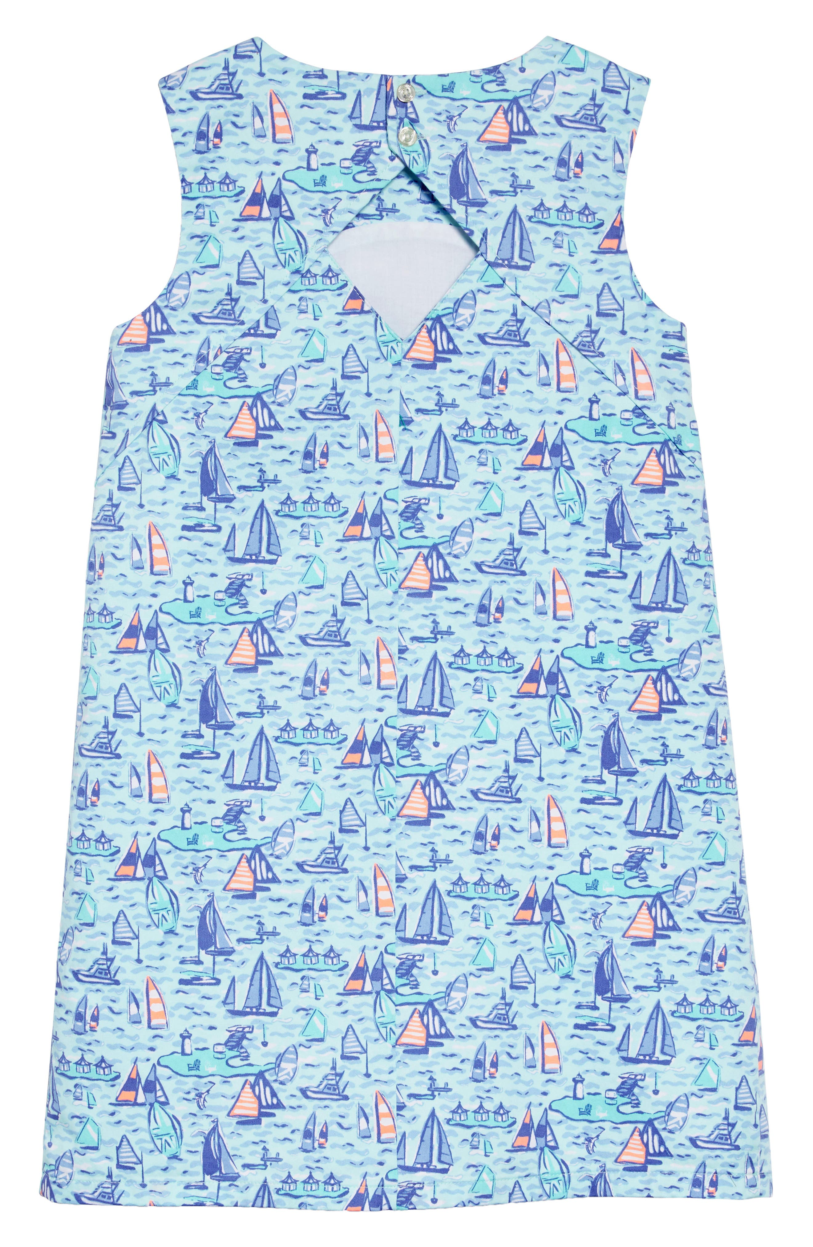 Sailing Diamond Back Cutout Dress,                             Alternate thumbnail 2, color,                             CRYSTAL BLUE