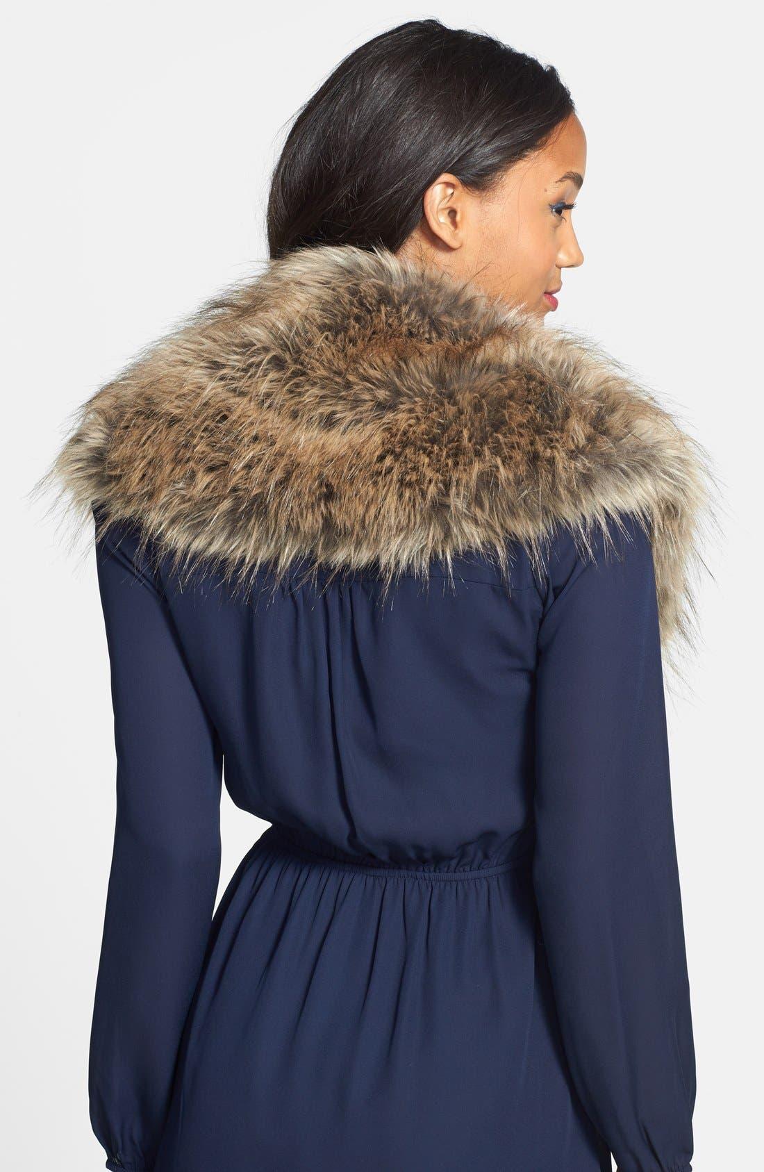 Oversized Faux Fur Collar,                             Alternate thumbnail 3, color,                             250