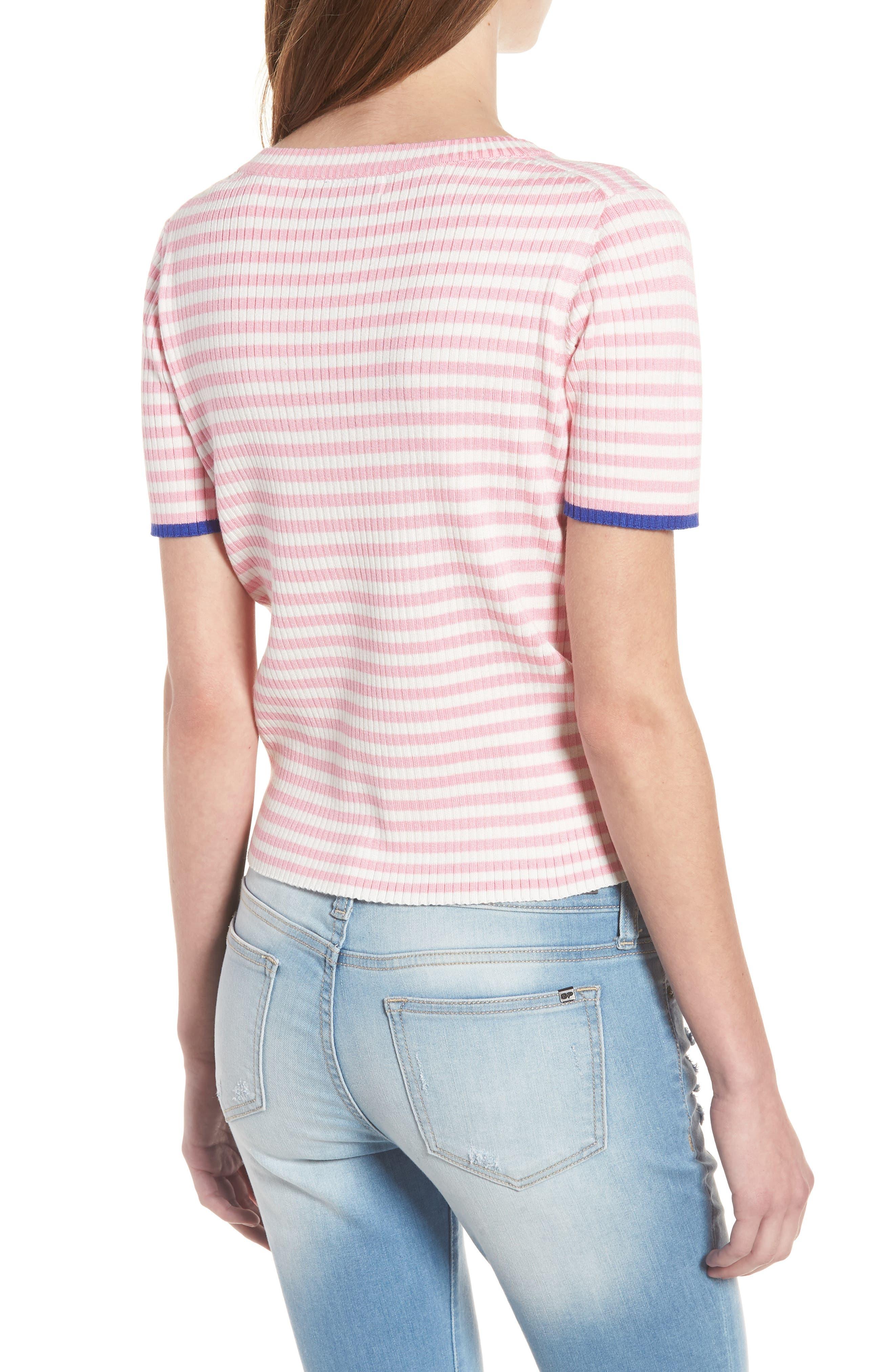 Stripe Knit Pullover,                             Alternate thumbnail 4, color,