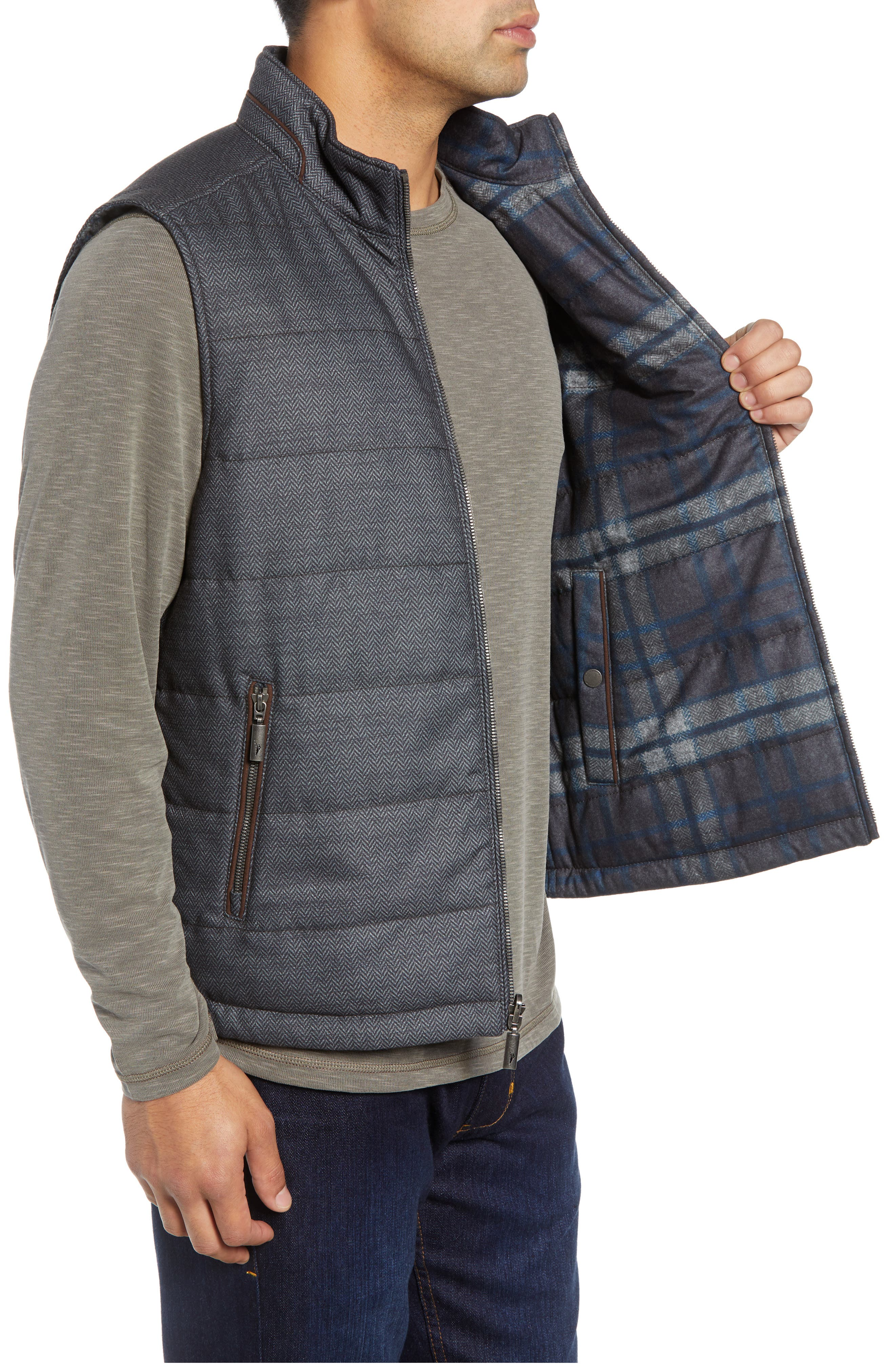 Dublin Duo Reversible Quilted Vest,                             Alternate thumbnail 4, color,                             SHADOW
