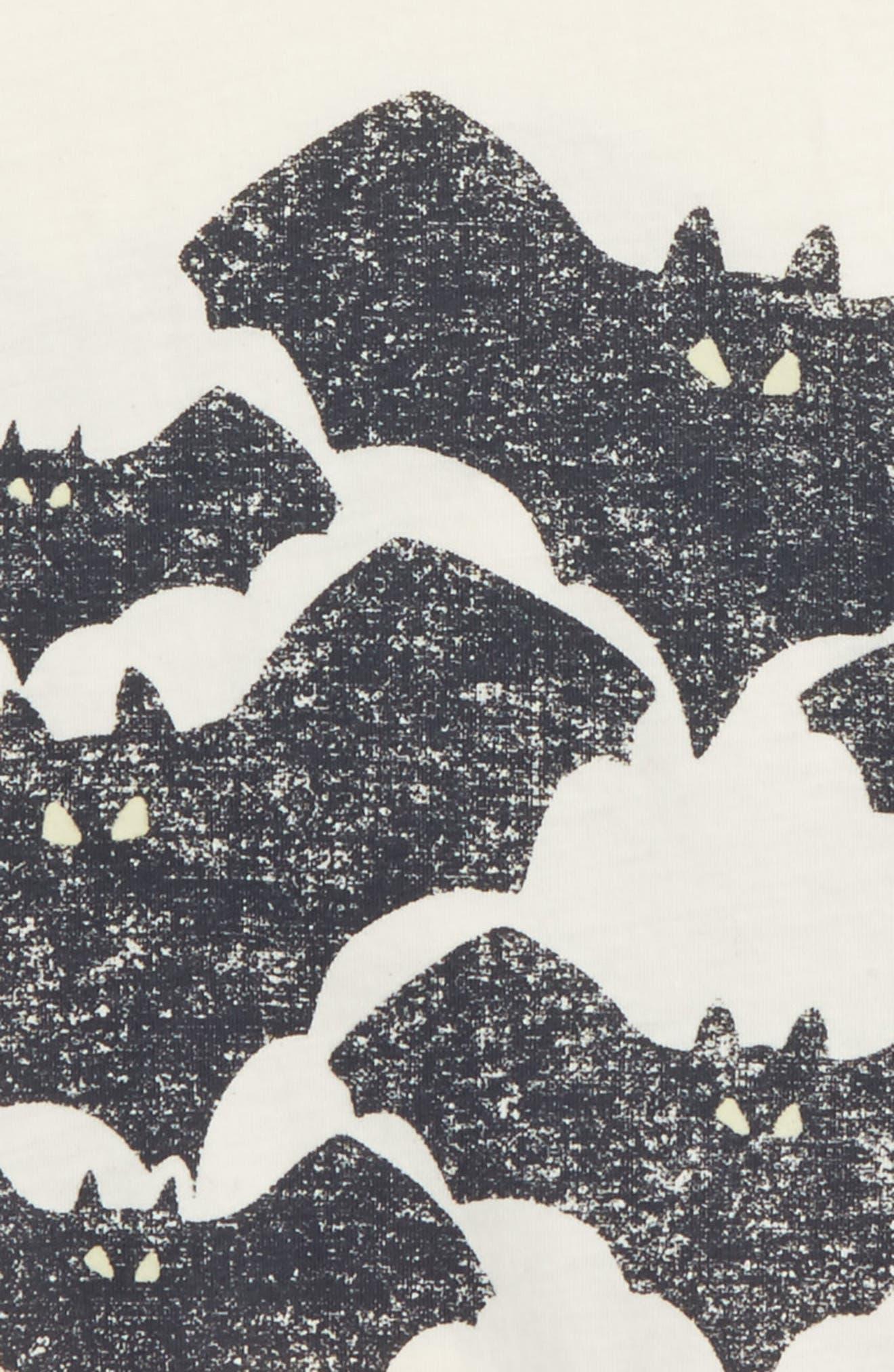 Bats Glow in the Dark T-Shirt,                             Alternate thumbnail 3, color,                             900