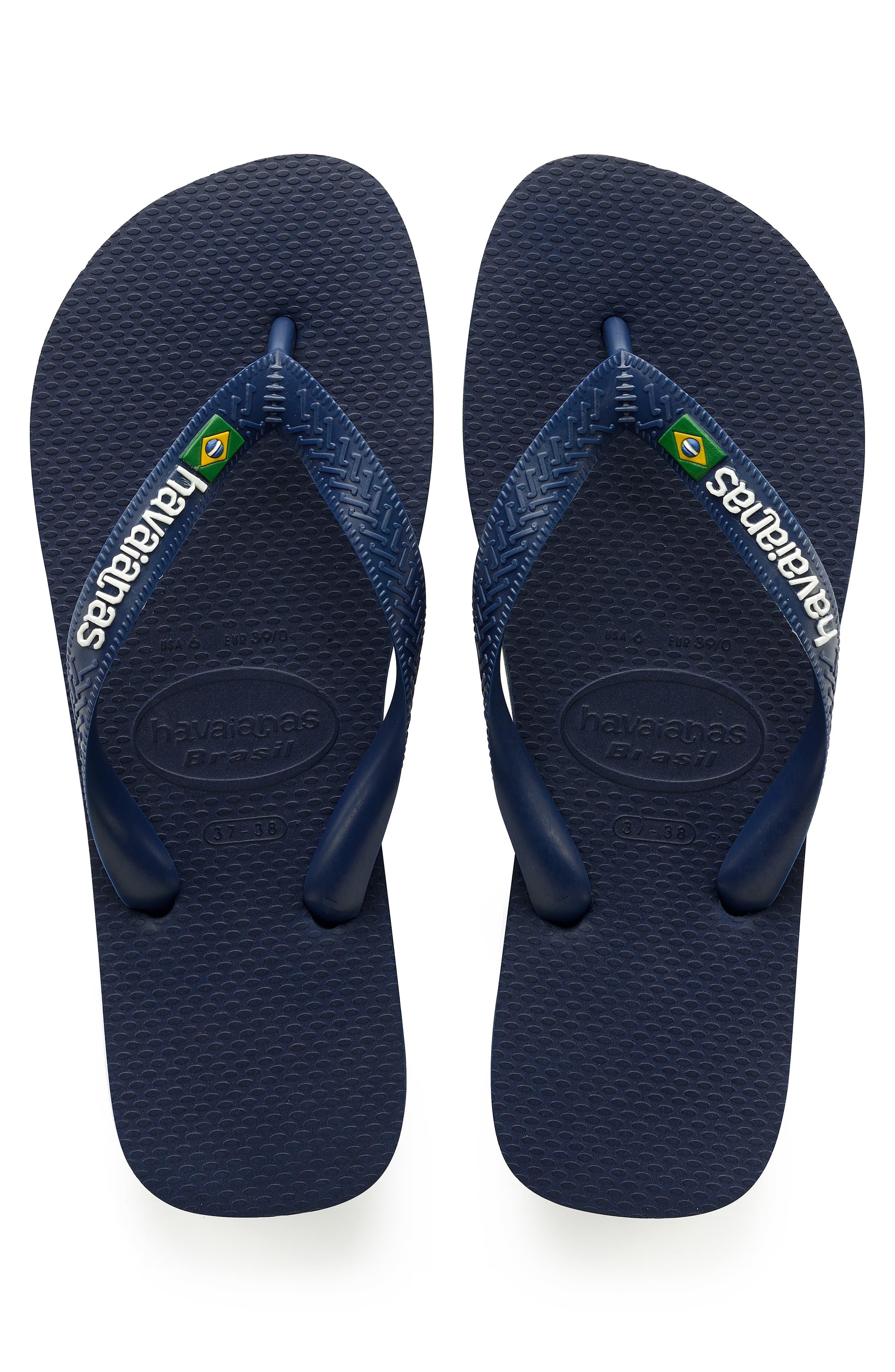 Brazil Flip Flop,                         Main,                         color, NAVY BLUE