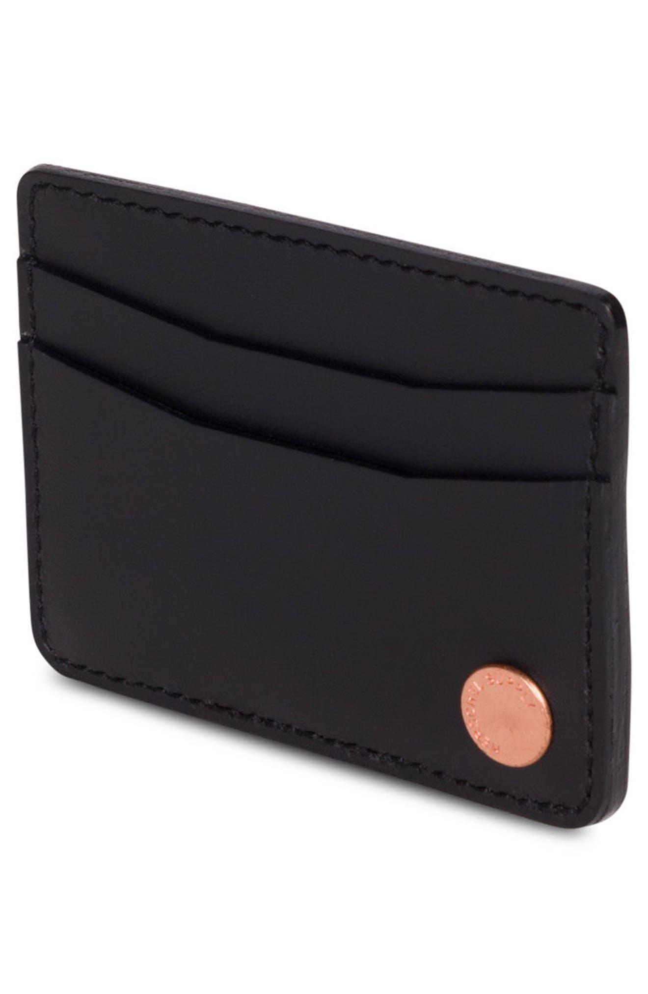 Ace Leather Card Case,                             Alternate thumbnail 3, color,                             001