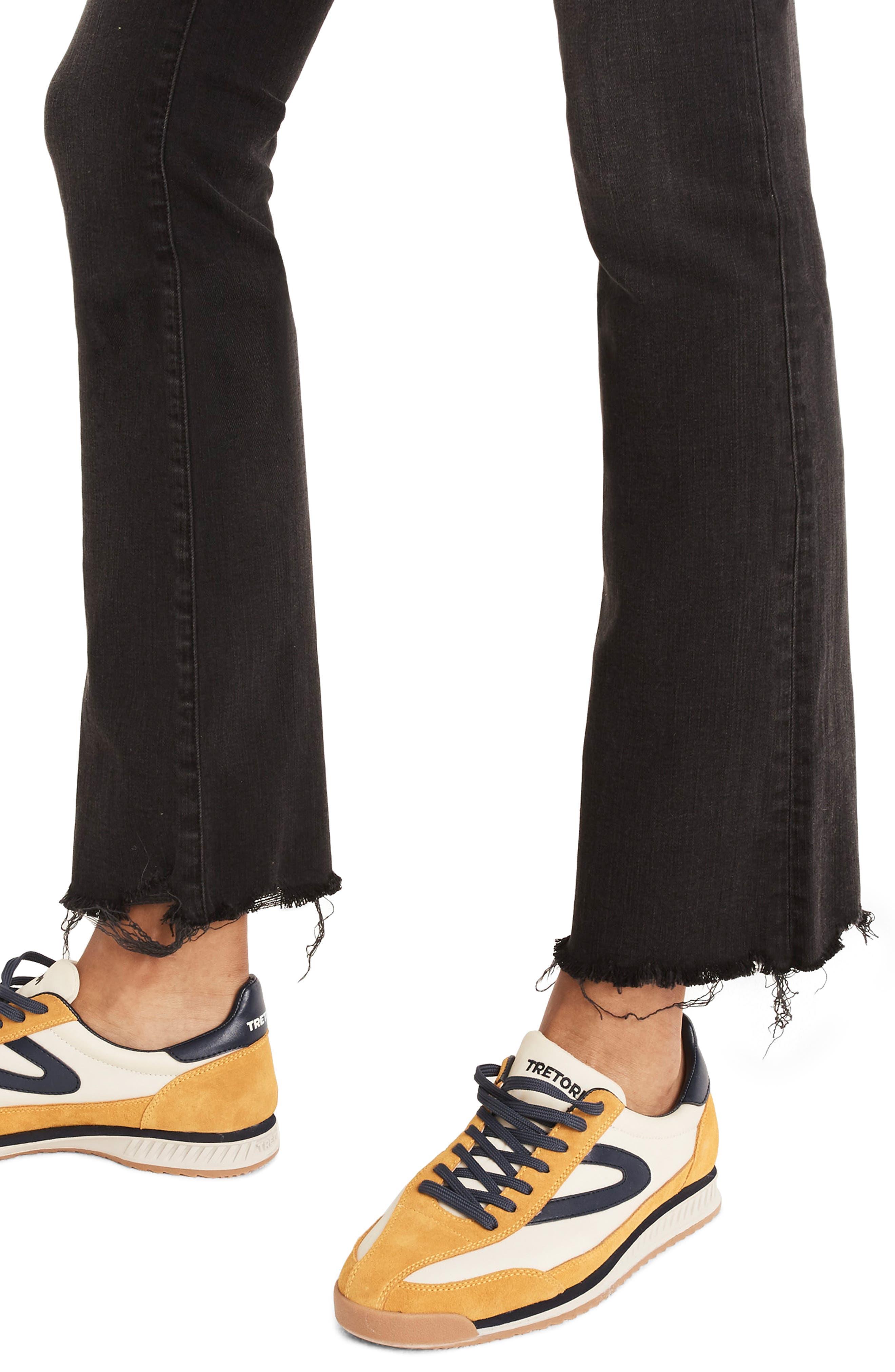 Cali Chewed Hem Demi Bootcut Jeans,                             Alternate thumbnail 4, color,                             BERKELEY