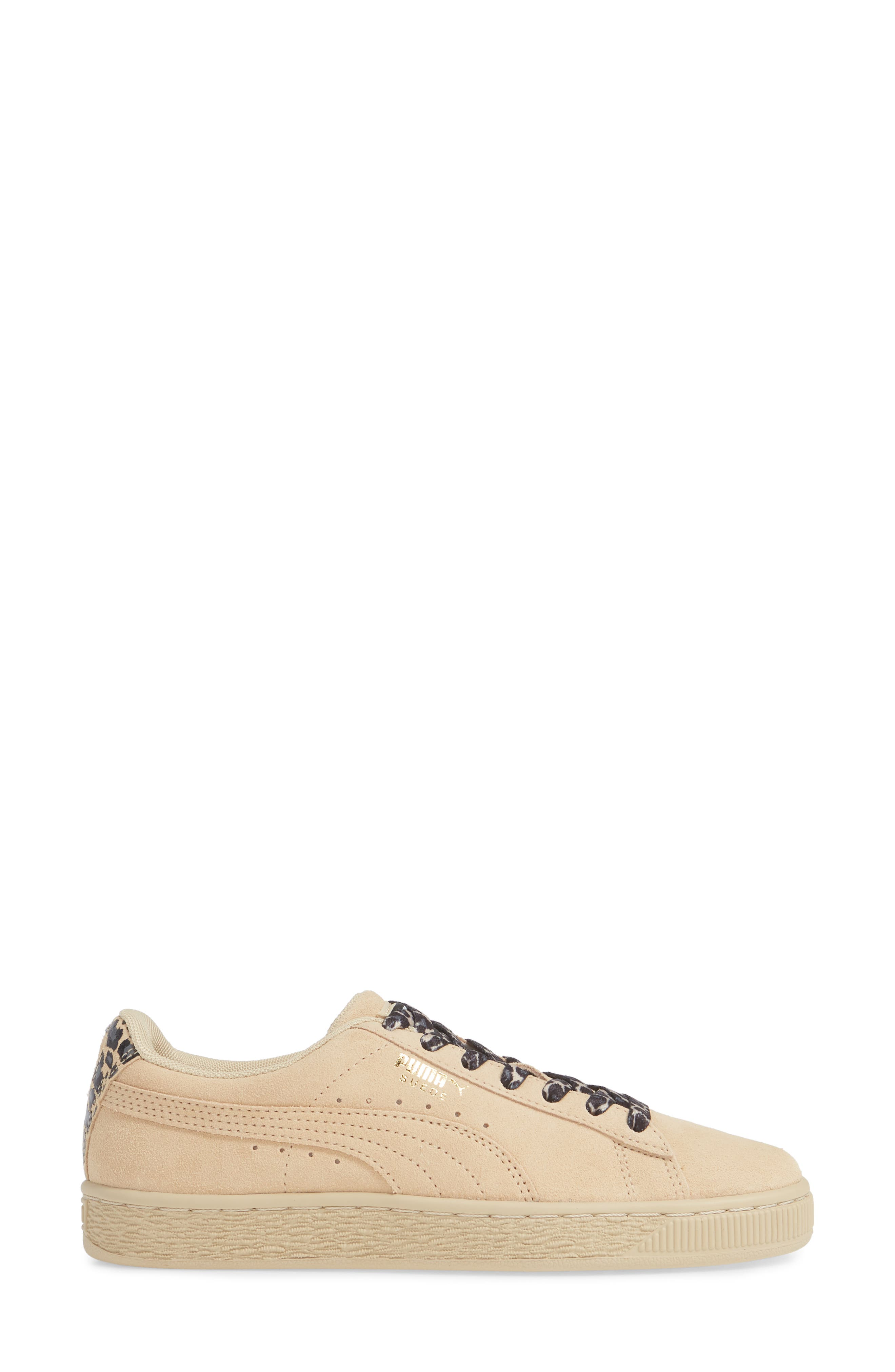 Suede Wild Sneaker,                             Alternate thumbnail 3, color,                             BLACK/ TEAM GOLD/ PEBBLE