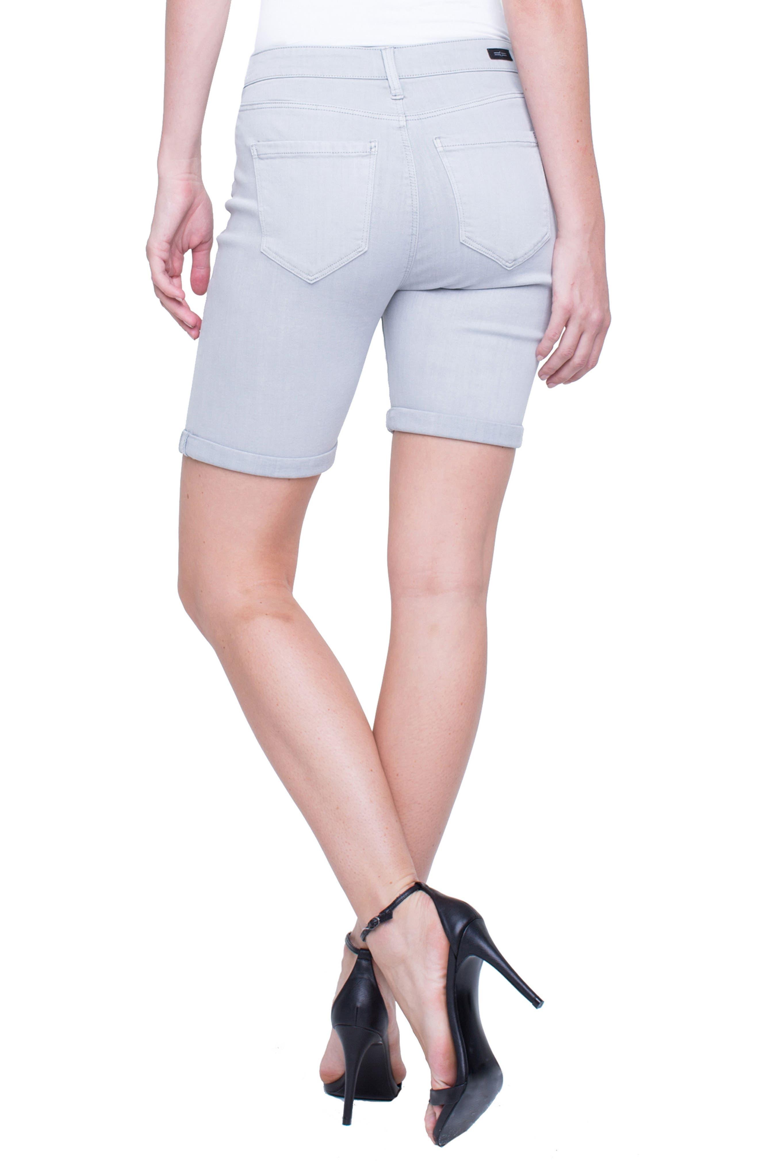 Corine Cuffed Denim Shorts,                             Alternate thumbnail 3, color,