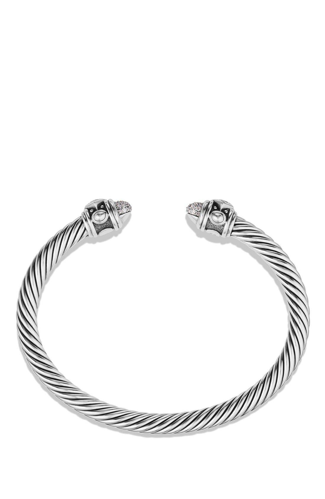 Renaissance Bracelet with Diamonds in Silver, 5mm,                             Alternate thumbnail 2, color,                             DIAMOND