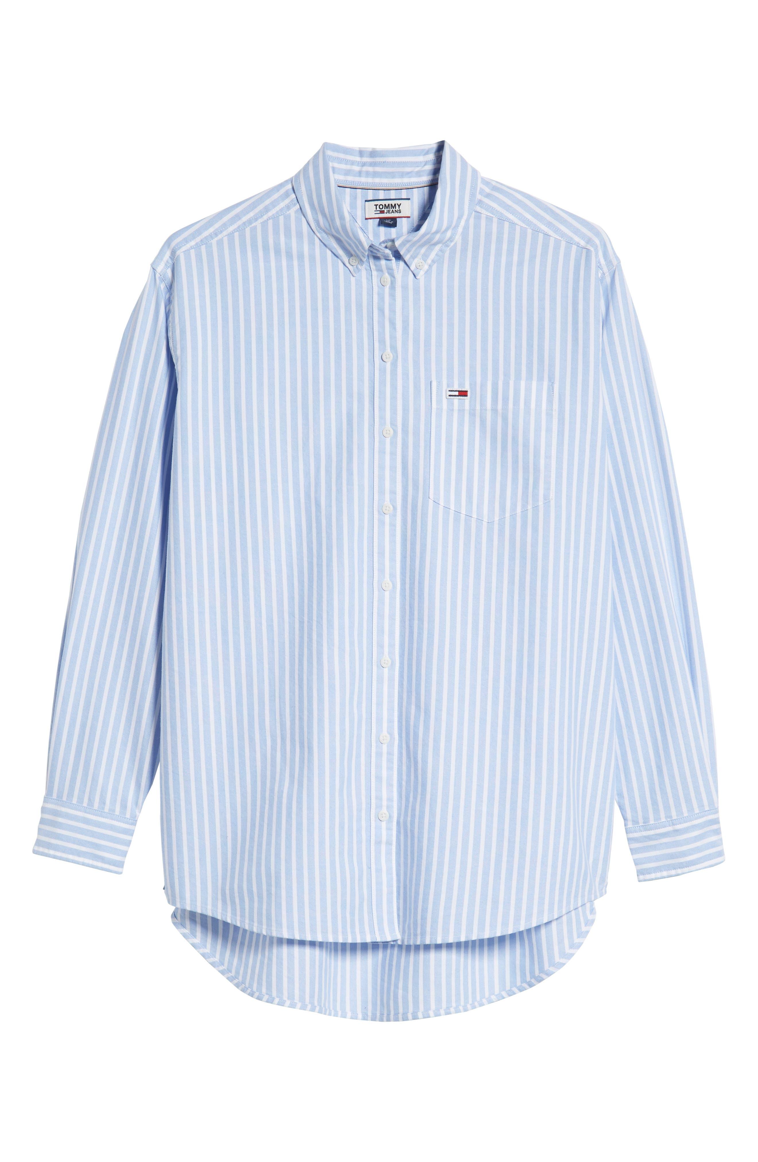 Classics Stripe Shirt,                             Alternate thumbnail 6, color,                             400