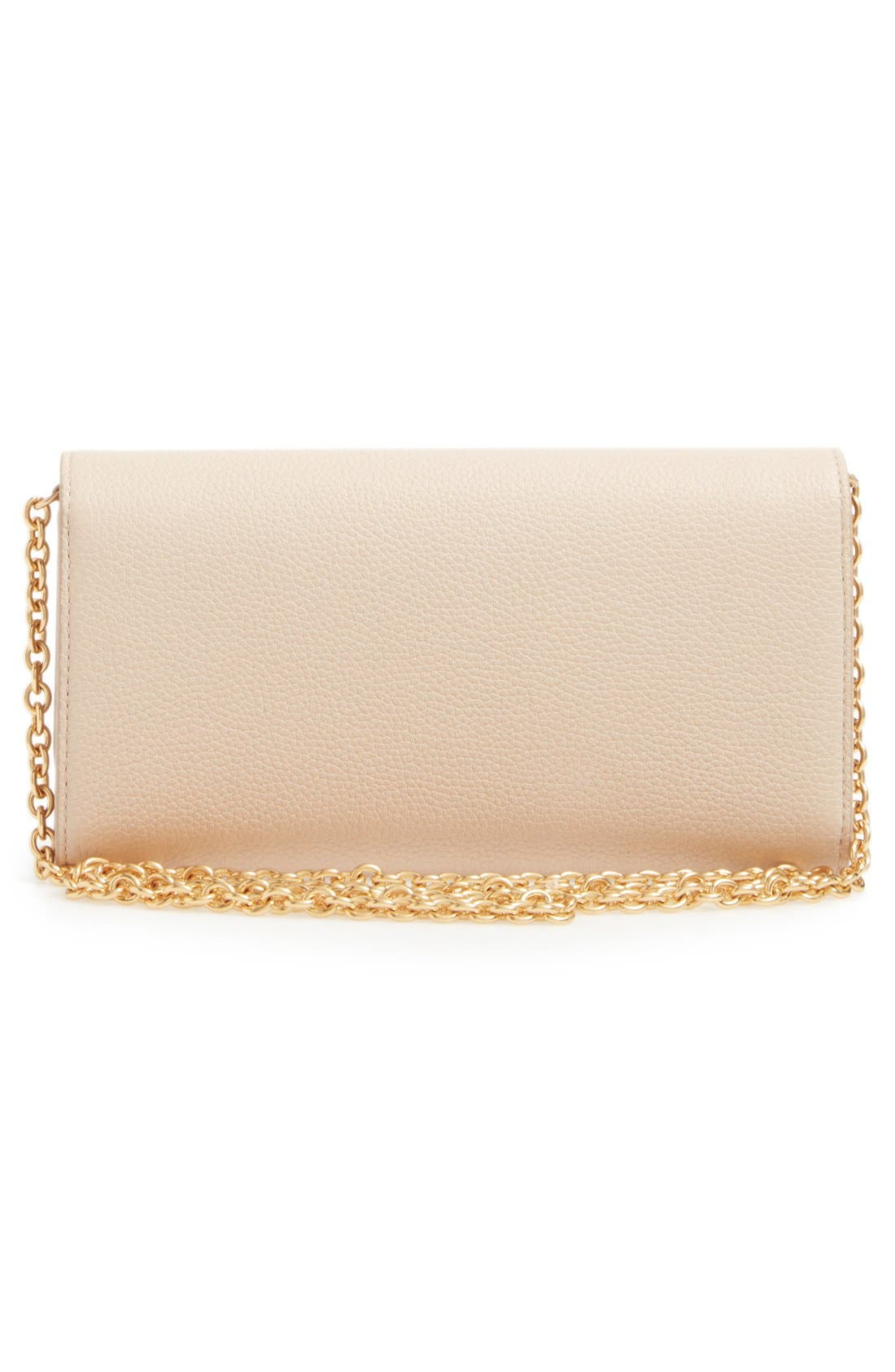 'Continental - Classic' Convertible Leather Clutch,                             Alternate thumbnail 6, color,