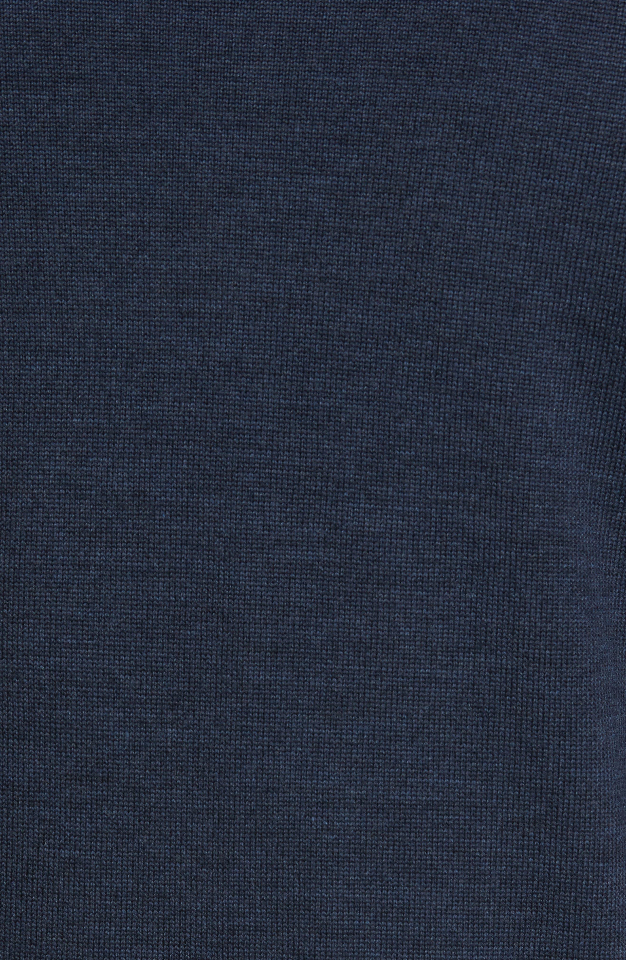 Roaring Meg Zip Wool Sweater,                             Alternate thumbnail 5, color,                             401