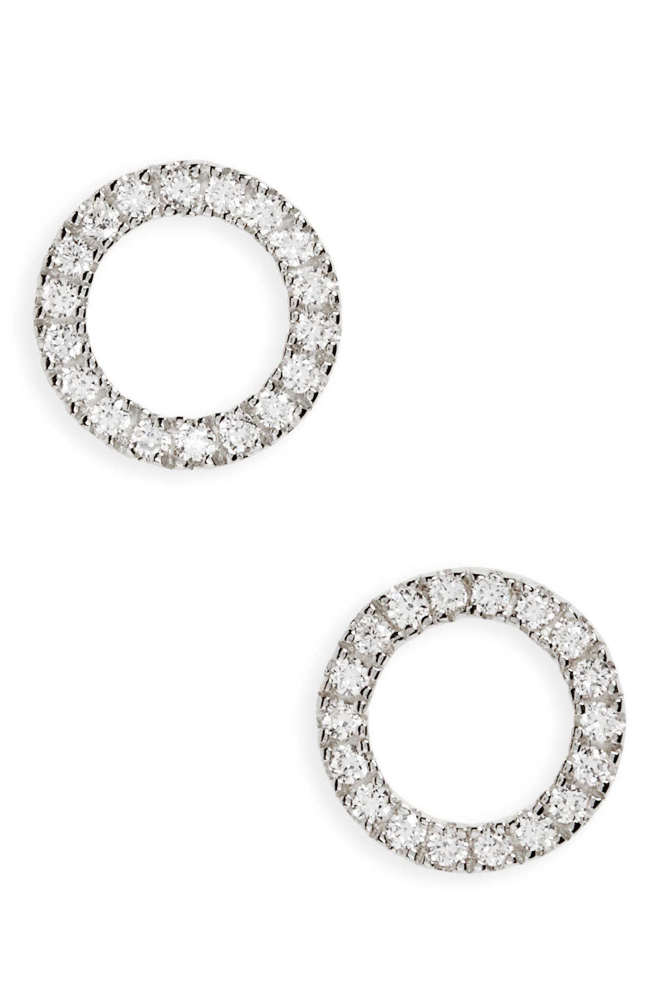Open Circle Stud Earrings,                         Main,                         color, 040
