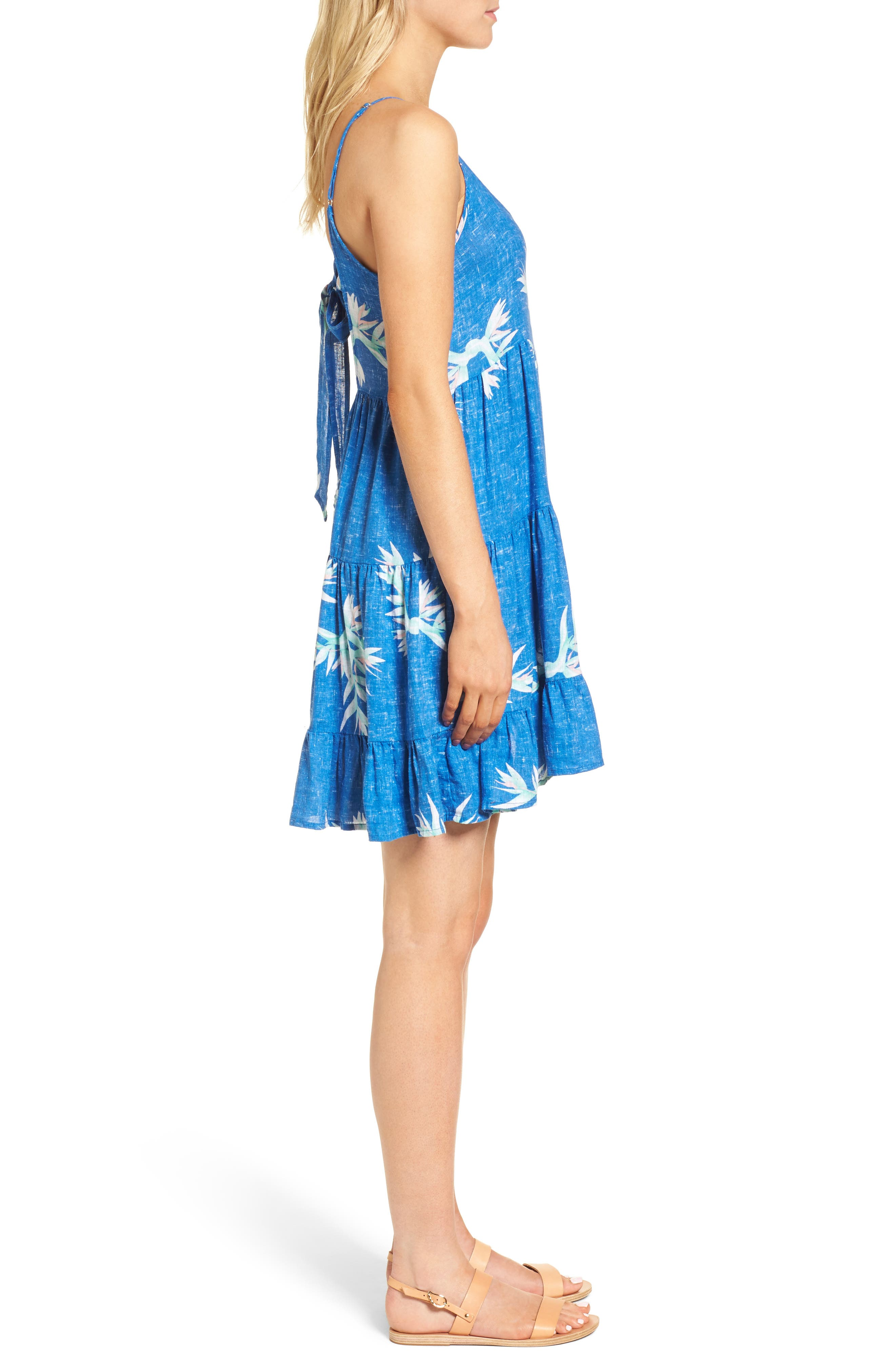 Amber Fit & Flare Dress,                             Alternate thumbnail 3, color,                             494