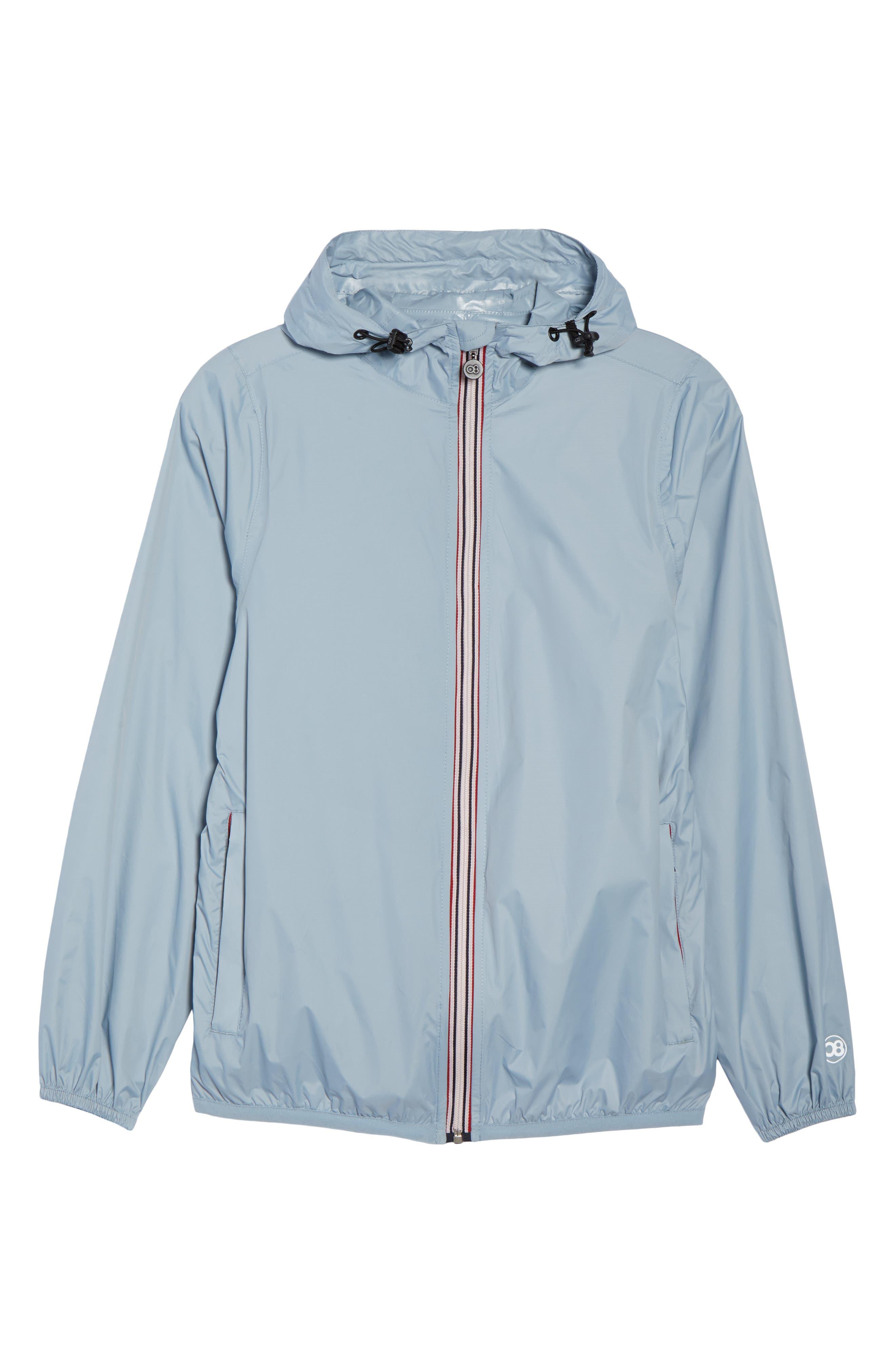 Packable Rain Jacket,                             Alternate thumbnail 6, color,                             CELESTIAL BLUE