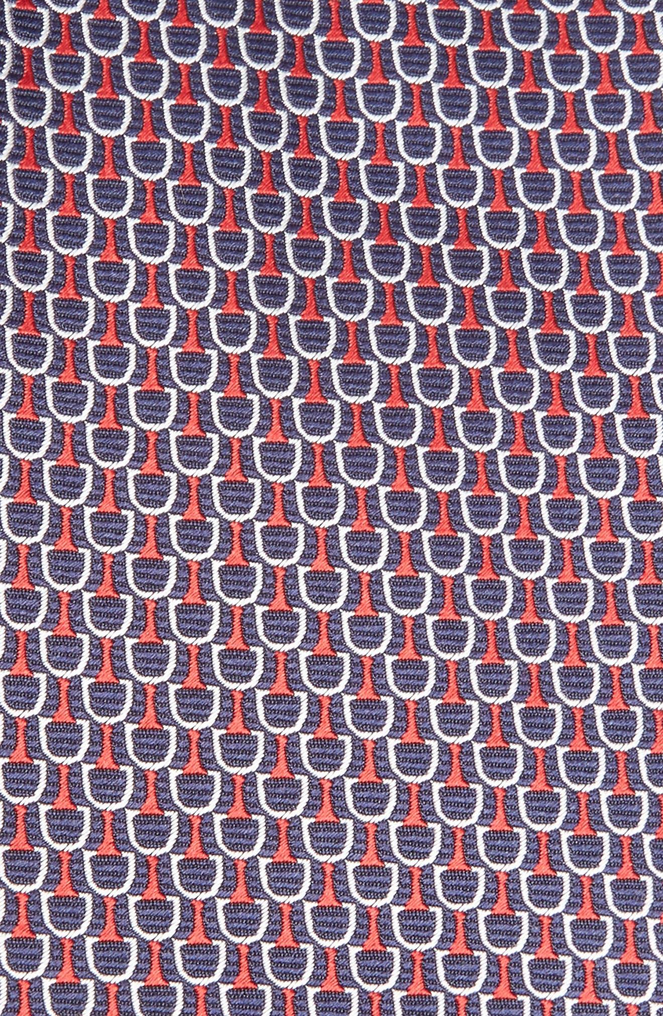 ERMENEGILDO ZEGNA,                             Geometric Silk Tie,                             Alternate thumbnail 2, color,                             618
