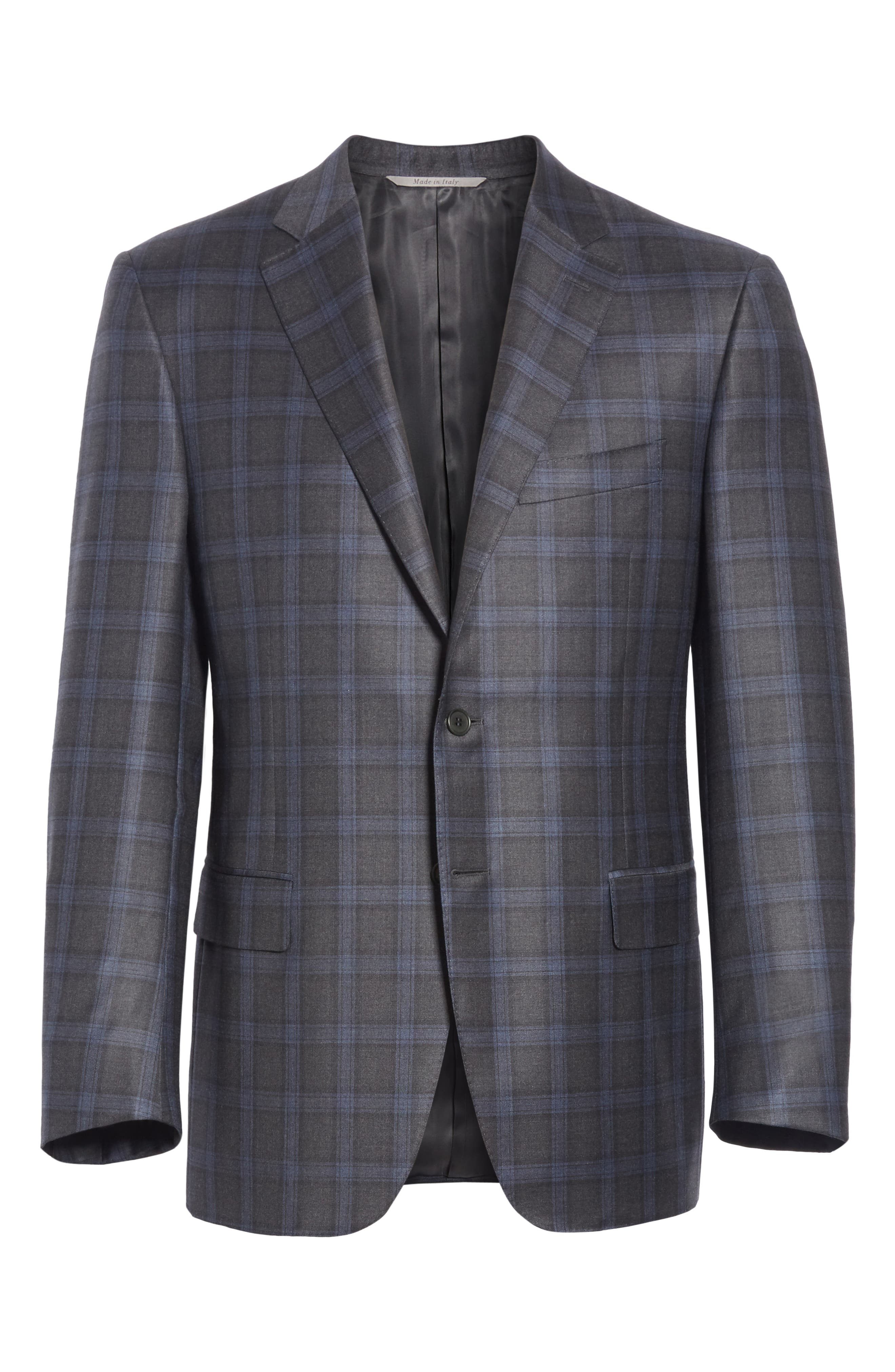 Classic Fit Plaid Wool Sport Coat,                             Alternate thumbnail 5, color,                             020