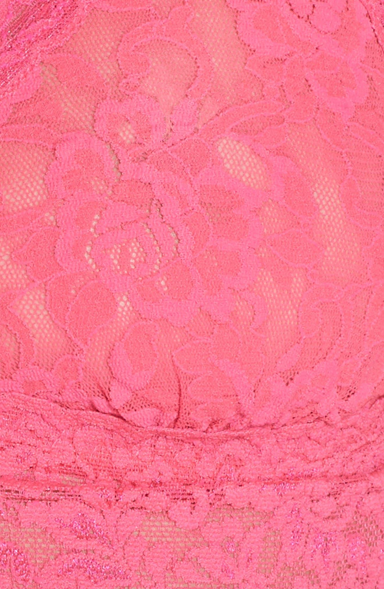 'Signature Lace' Bralette,                             Alternate thumbnail 6, color,                             FLMBYNT PK