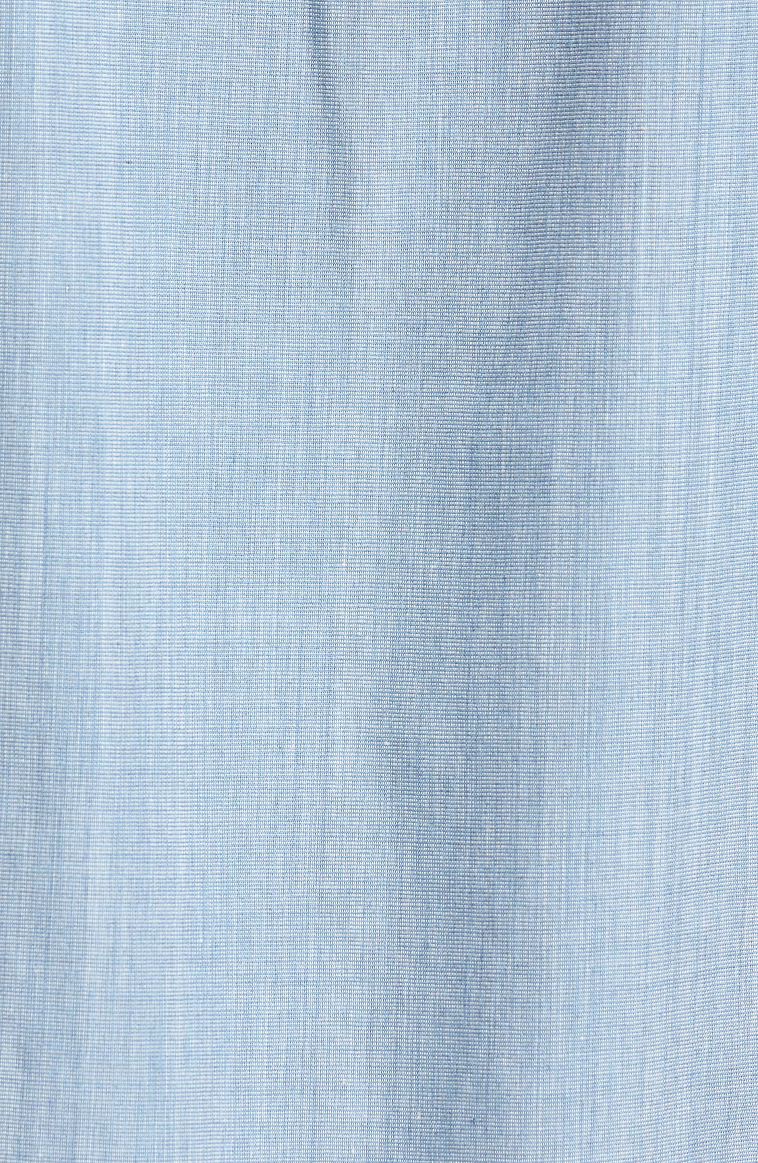 Cruze Woven Shirt,                             Alternate thumbnail 5, color,                             LIGHT BLUE