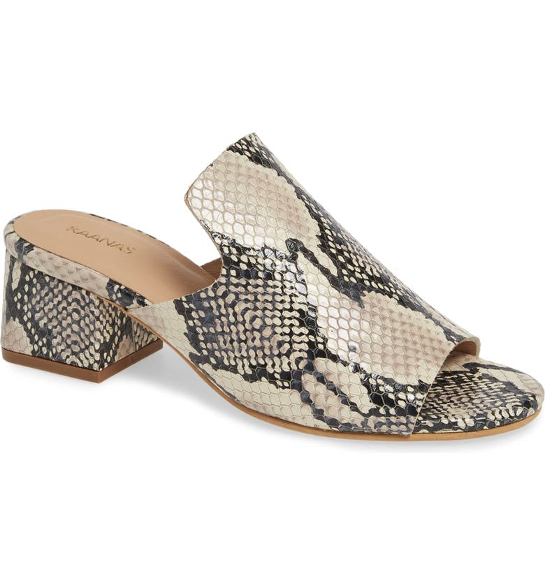 York Snake City Slide Sandal, Main, color, SNAKE PRINT LEATHER