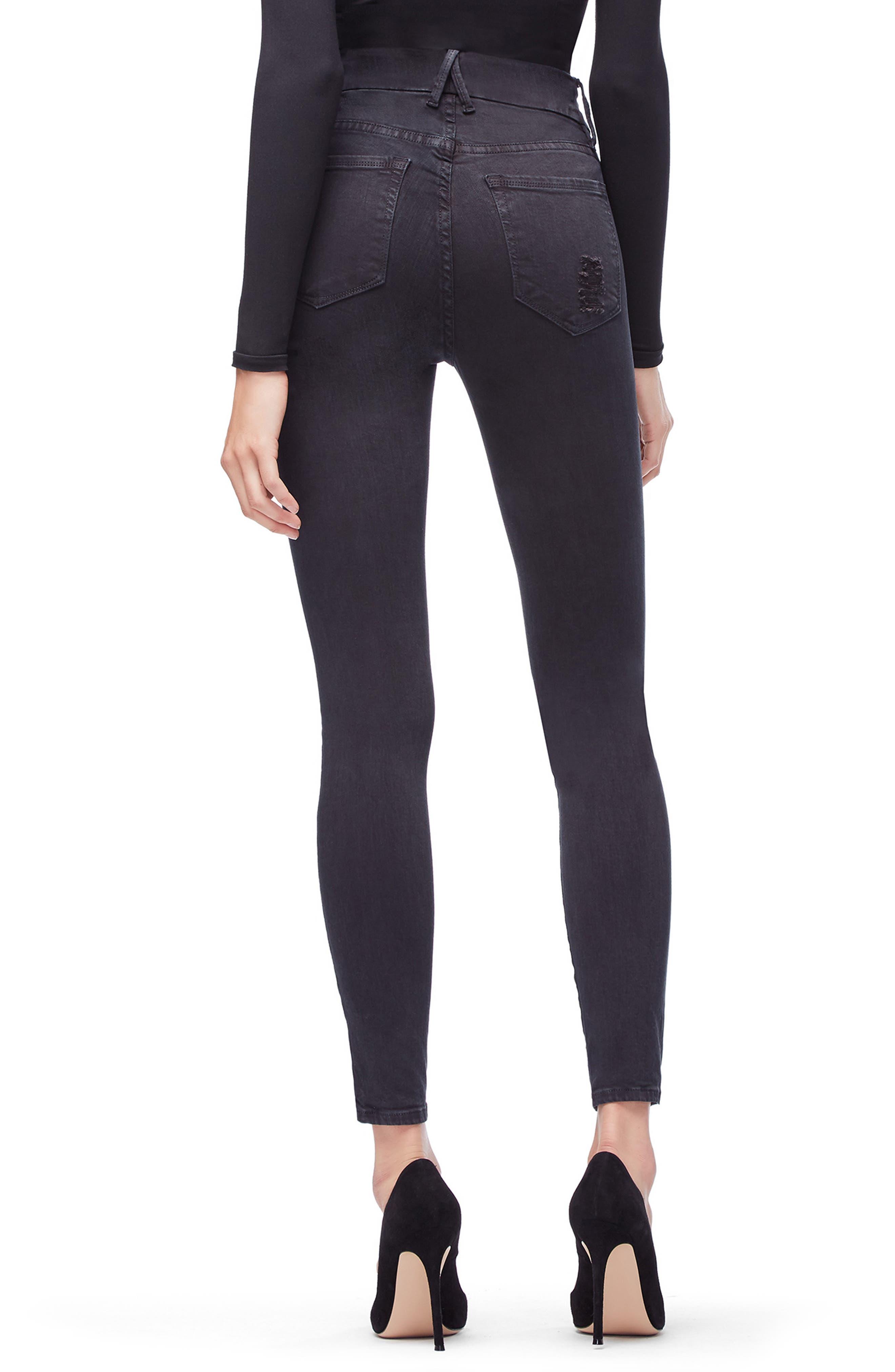 Good Legs High Waist Skinny Jeans,                             Alternate thumbnail 3, color,                             001
