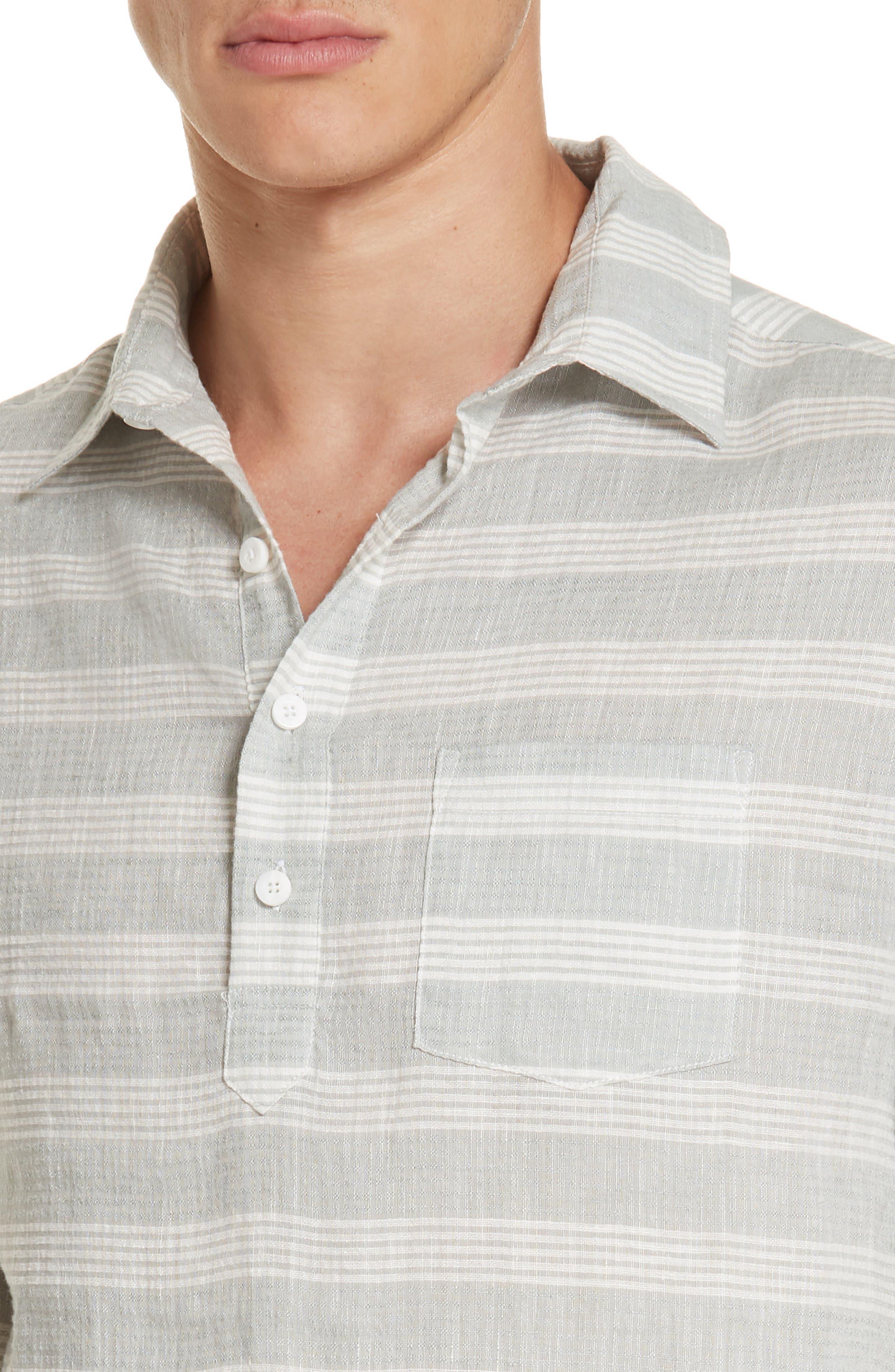 Chambray Stripe Pullover Woven Shirt,                             Alternate thumbnail 2, color,                             GREY