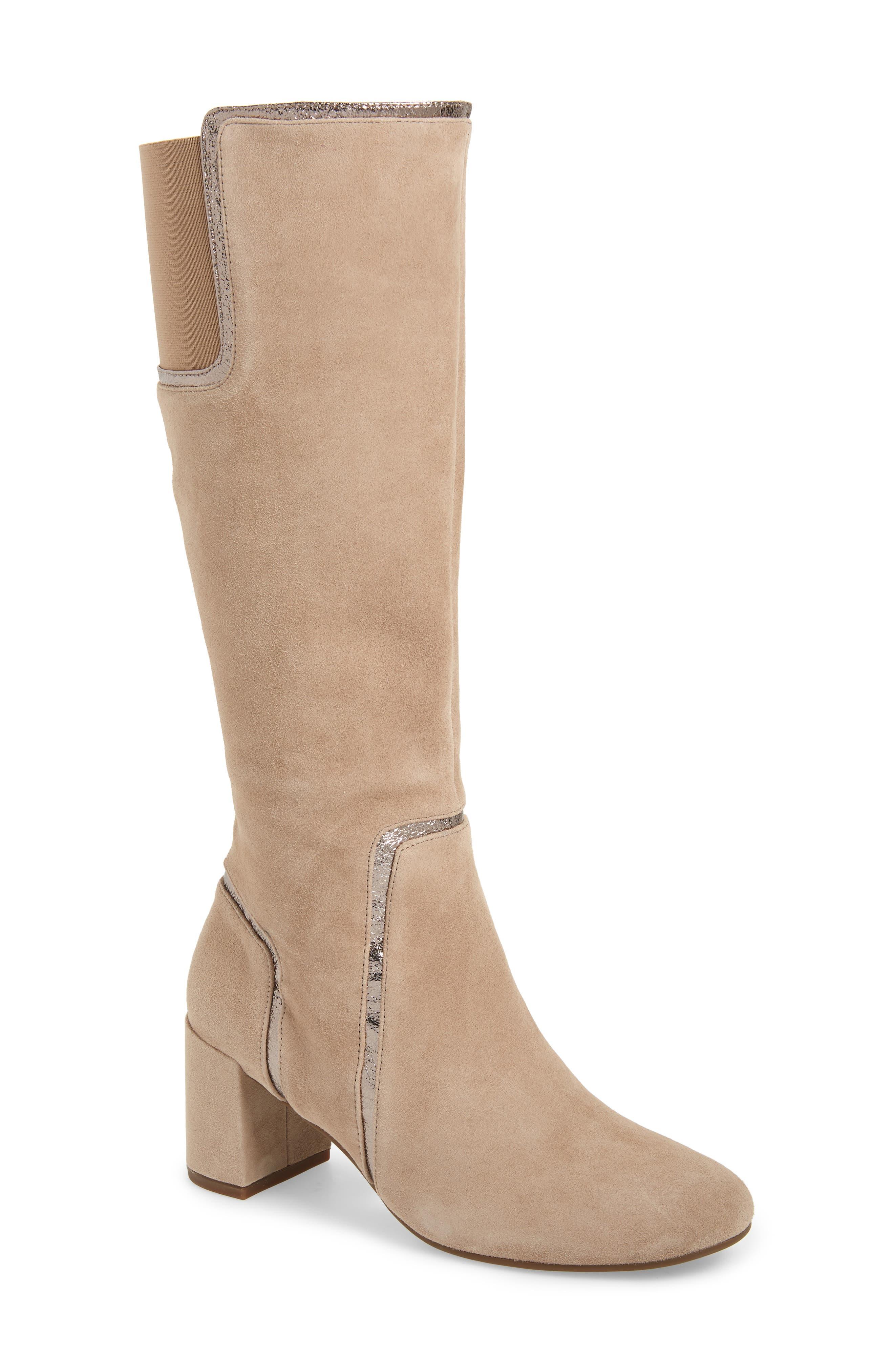 Taryn Rose Charlee Knee High Boot, Brown