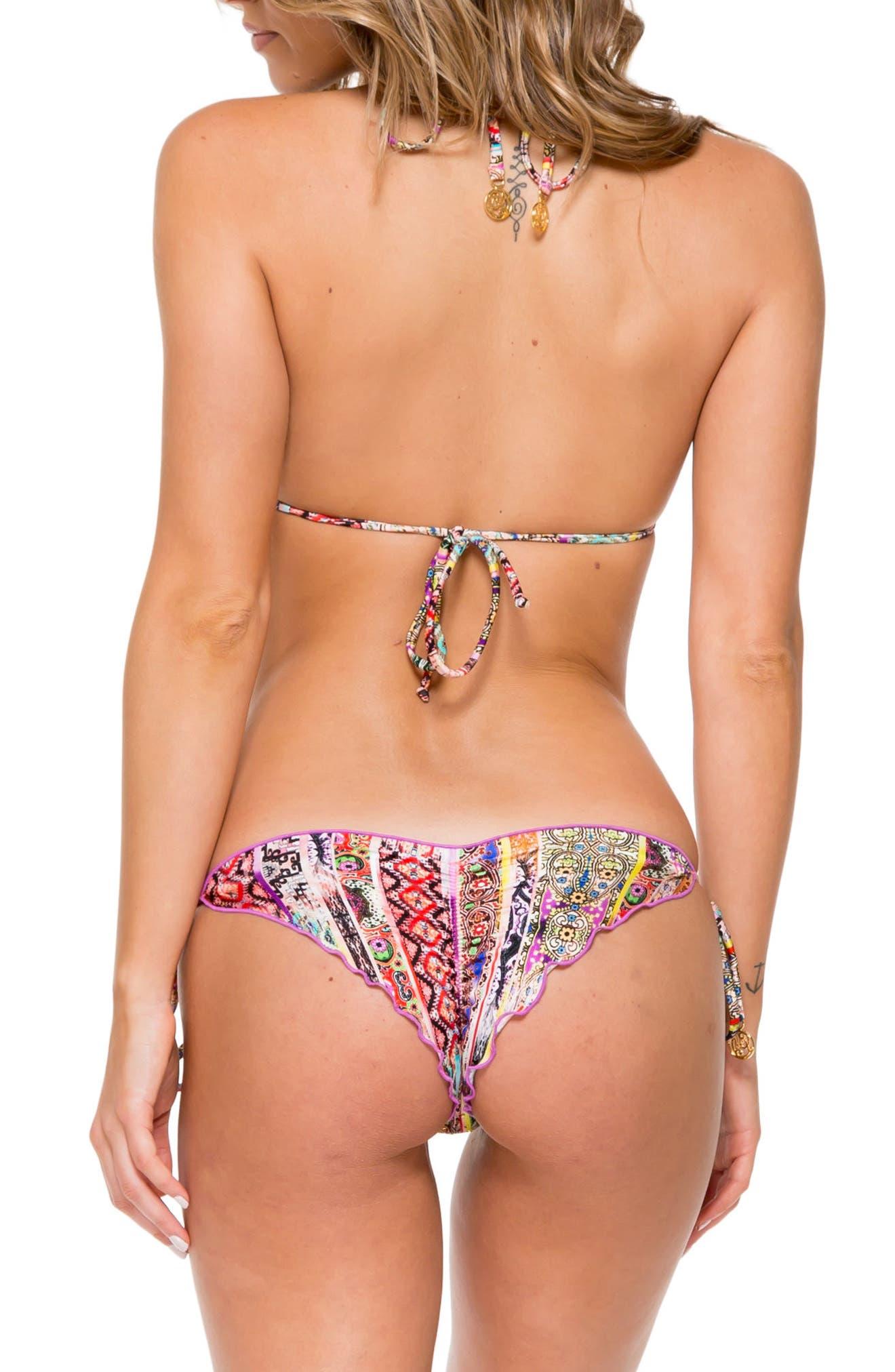 Embellished Brazilian Bikini Bottoms,                             Alternate thumbnail 7, color,                             800