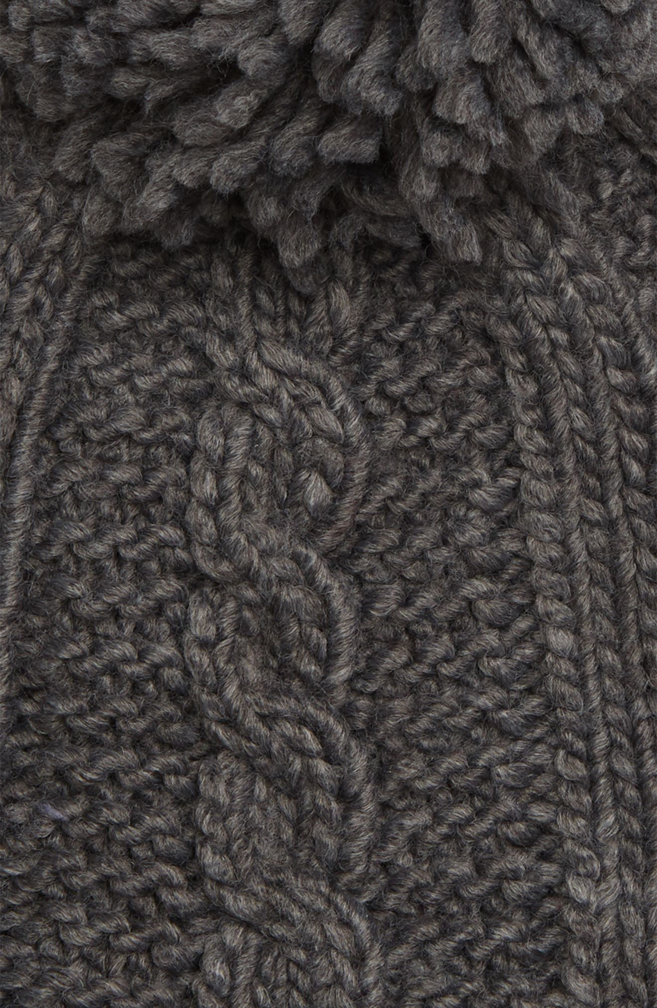 Cable Knit Hat,                             Alternate thumbnail 2, color,                             DERBY/ SILVER