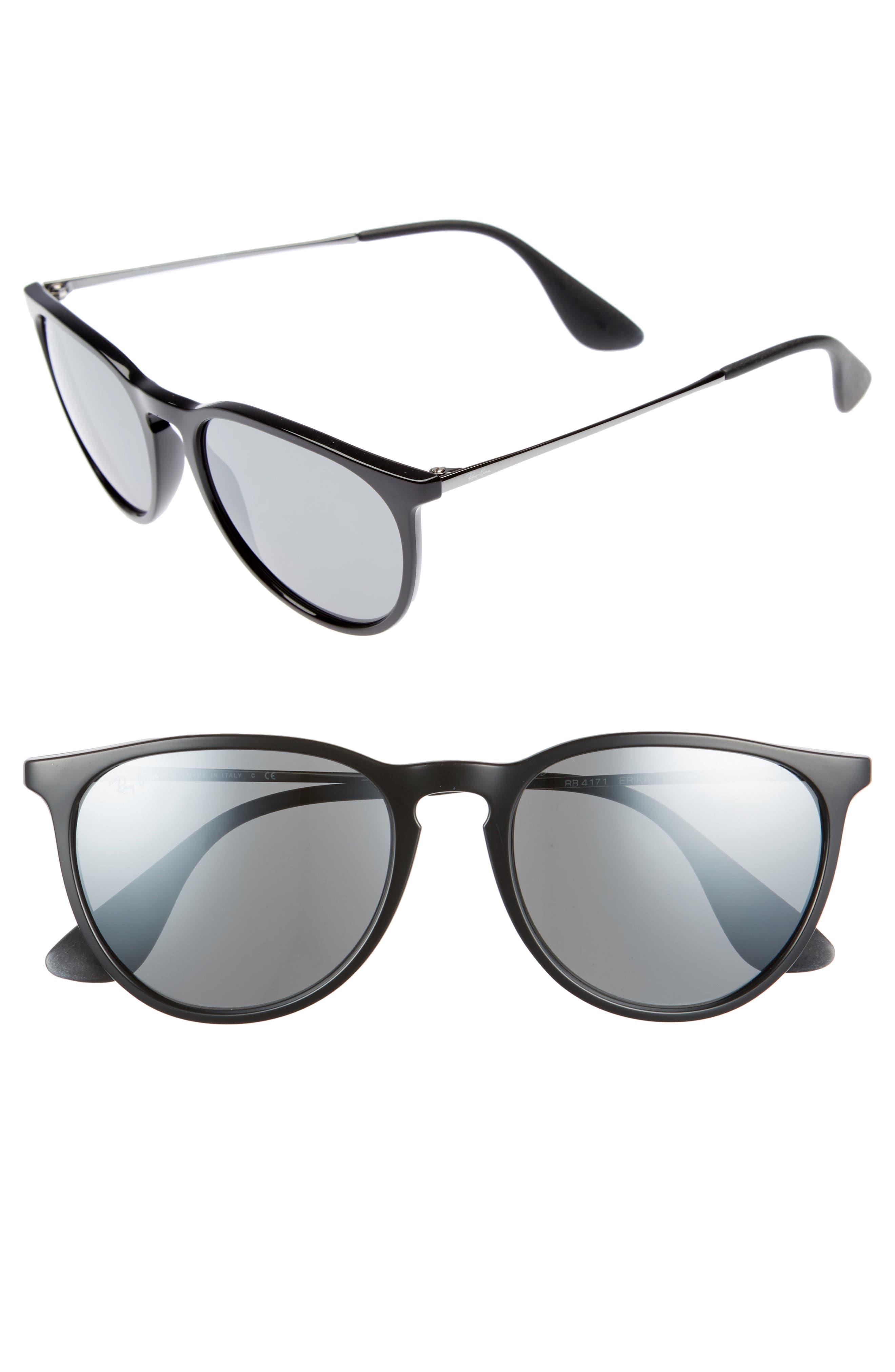 Erika 54mm Mirrored Sunglasses,                             Main thumbnail 1, color,                             001