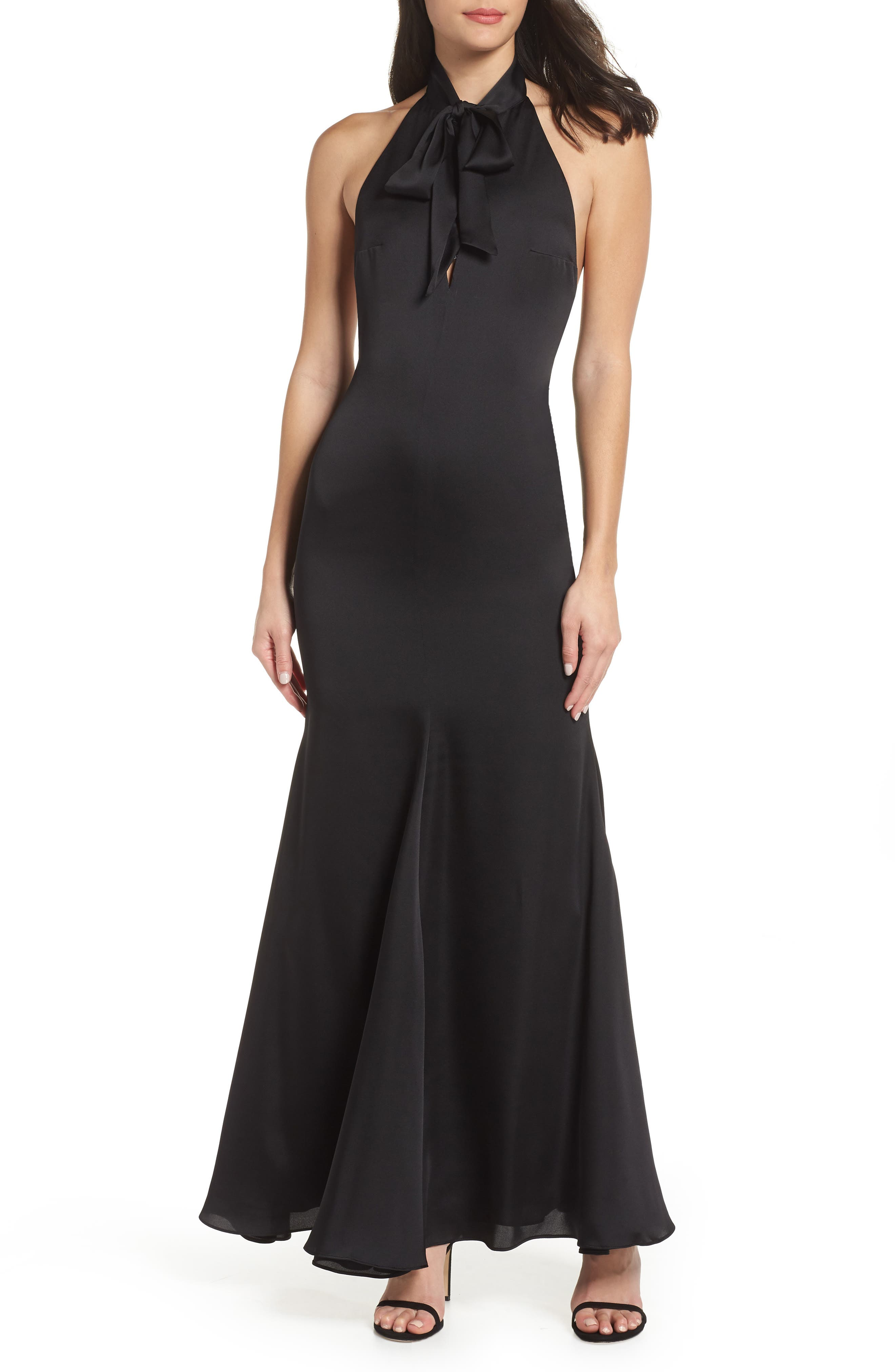 Fame And Partners The Ace Trumpet Gown, Black