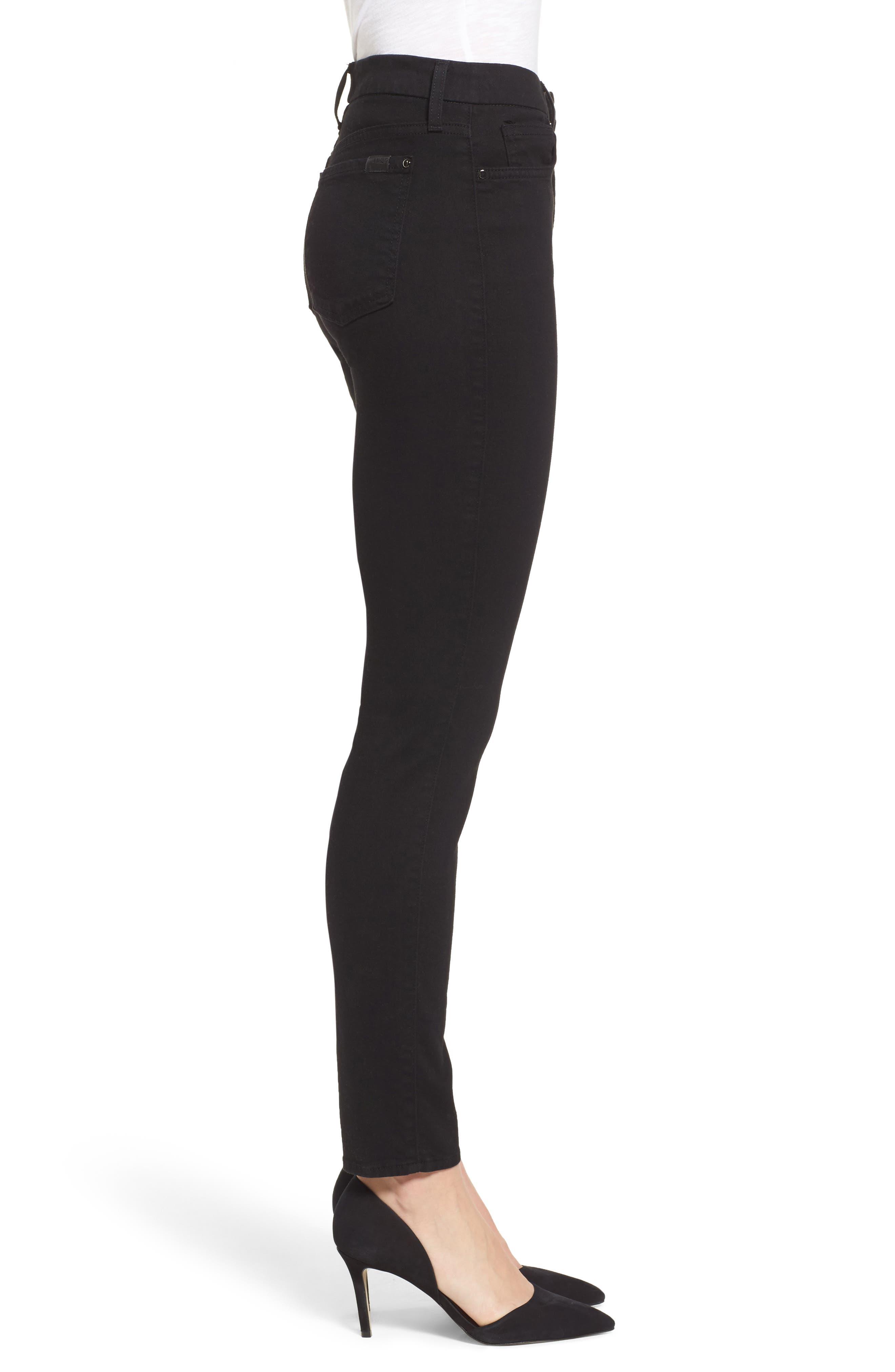 Skinny Jeans,                             Alternate thumbnail 3, color,                             RICHE TOUCH BLACK NOIR