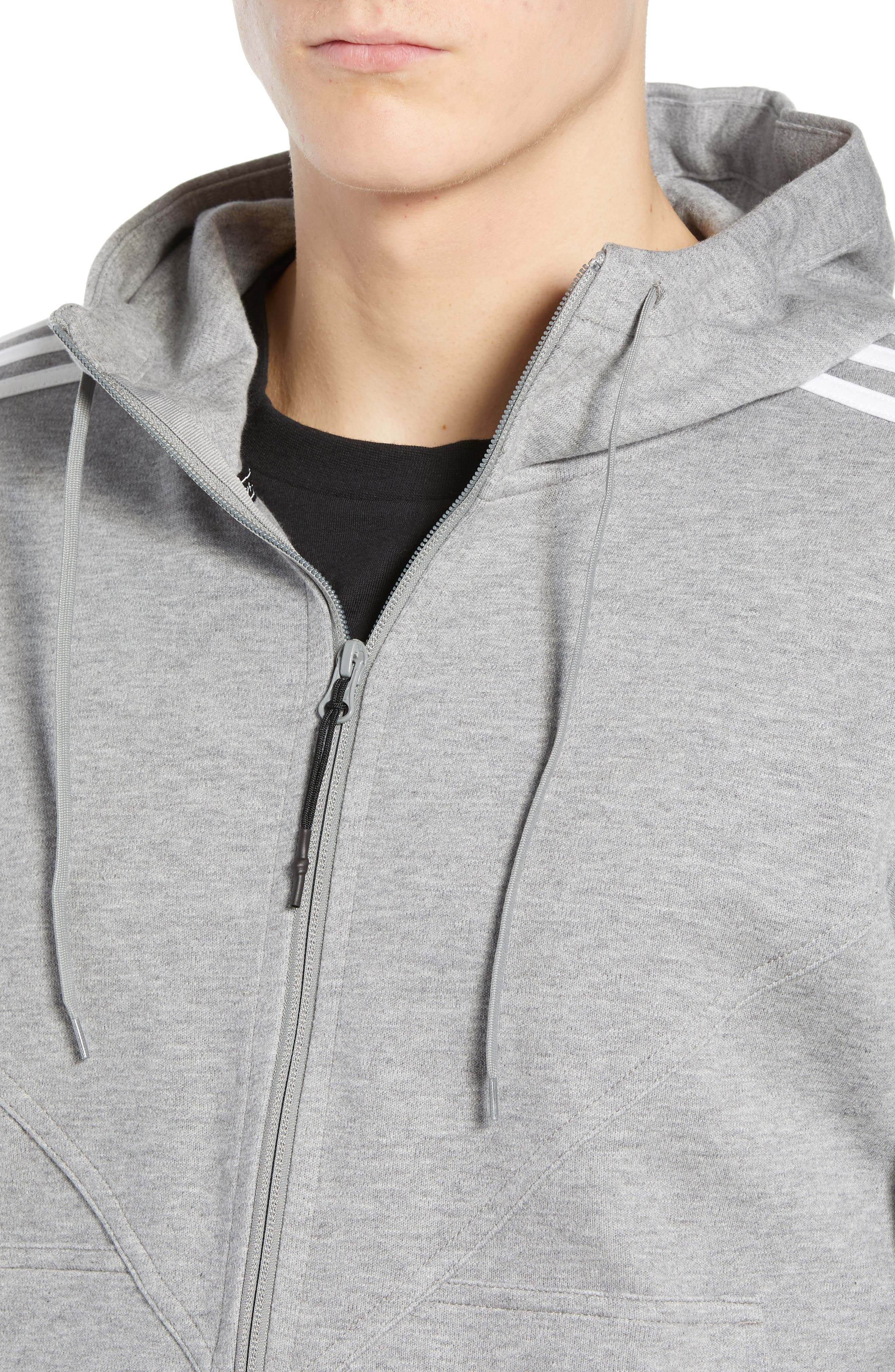 adidas NMD Zip Hoodie,                             Alternate thumbnail 4, color,                             MED GREY HEATHER