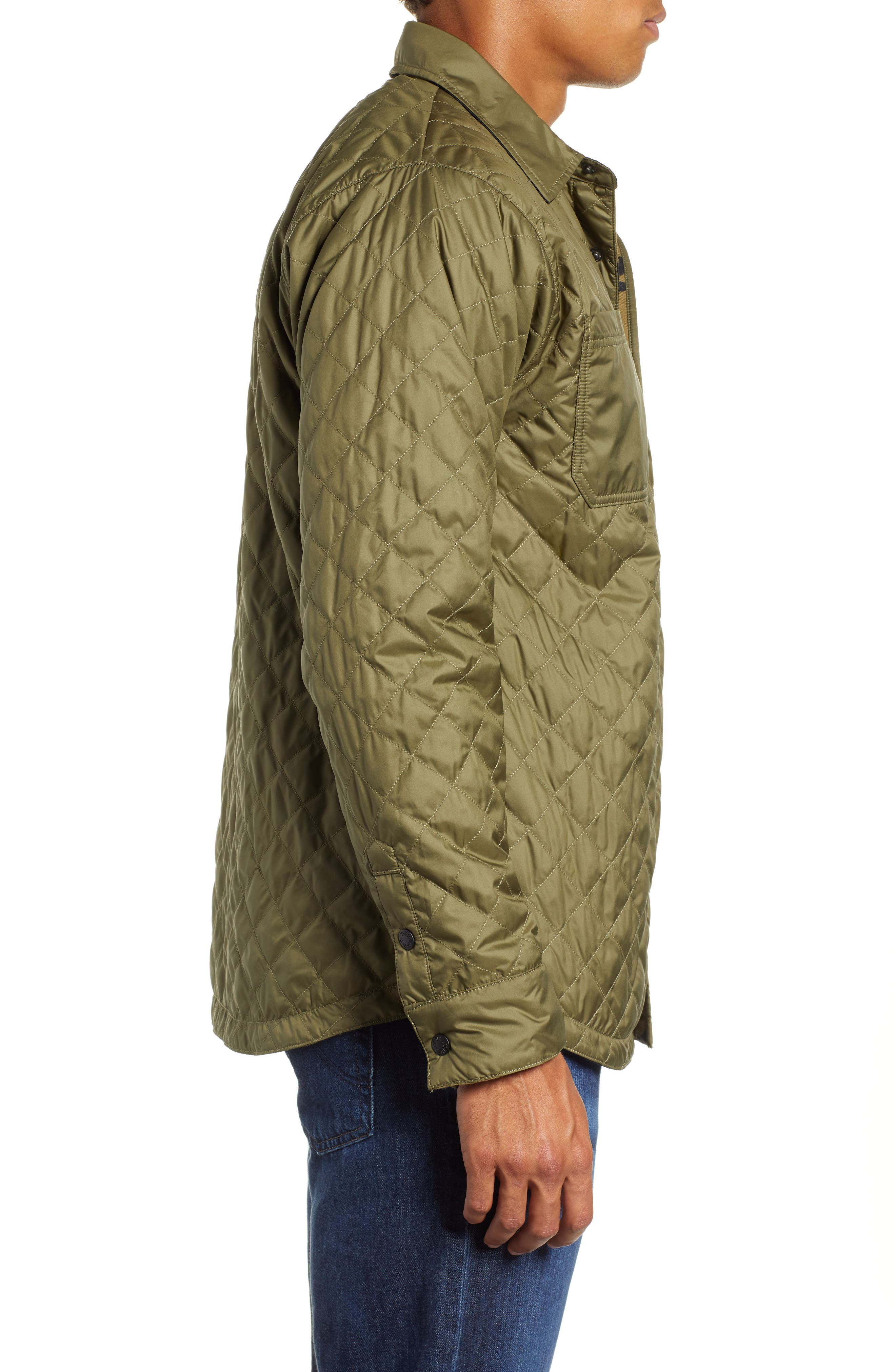 Fort Point Insulated Shirt Jacket,                             Alternate thumbnail 4, color,                             BURNT OLIVE GREEN