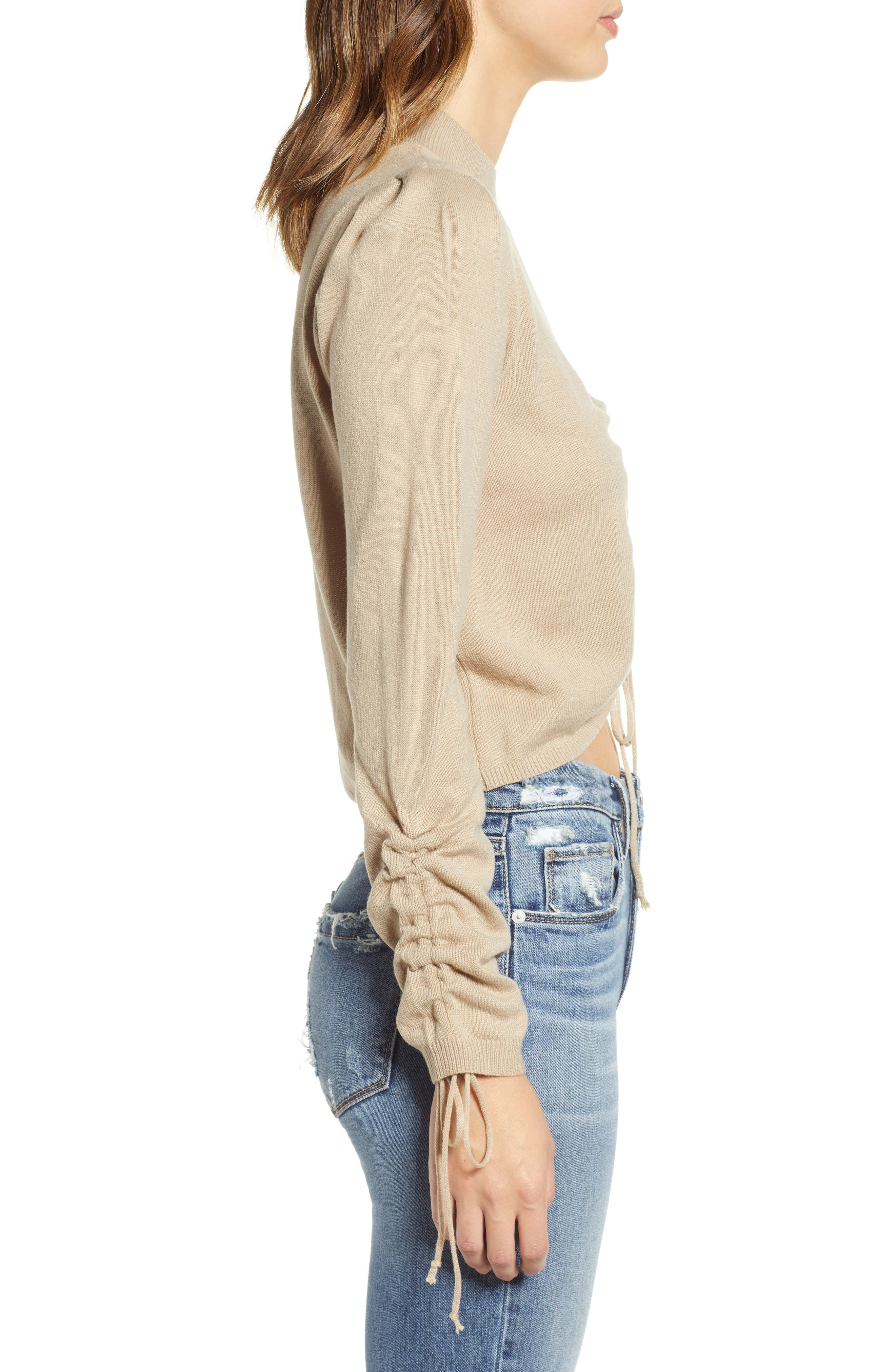 Ruched Front Sweater,                             Alternate thumbnail 3, color,                             250