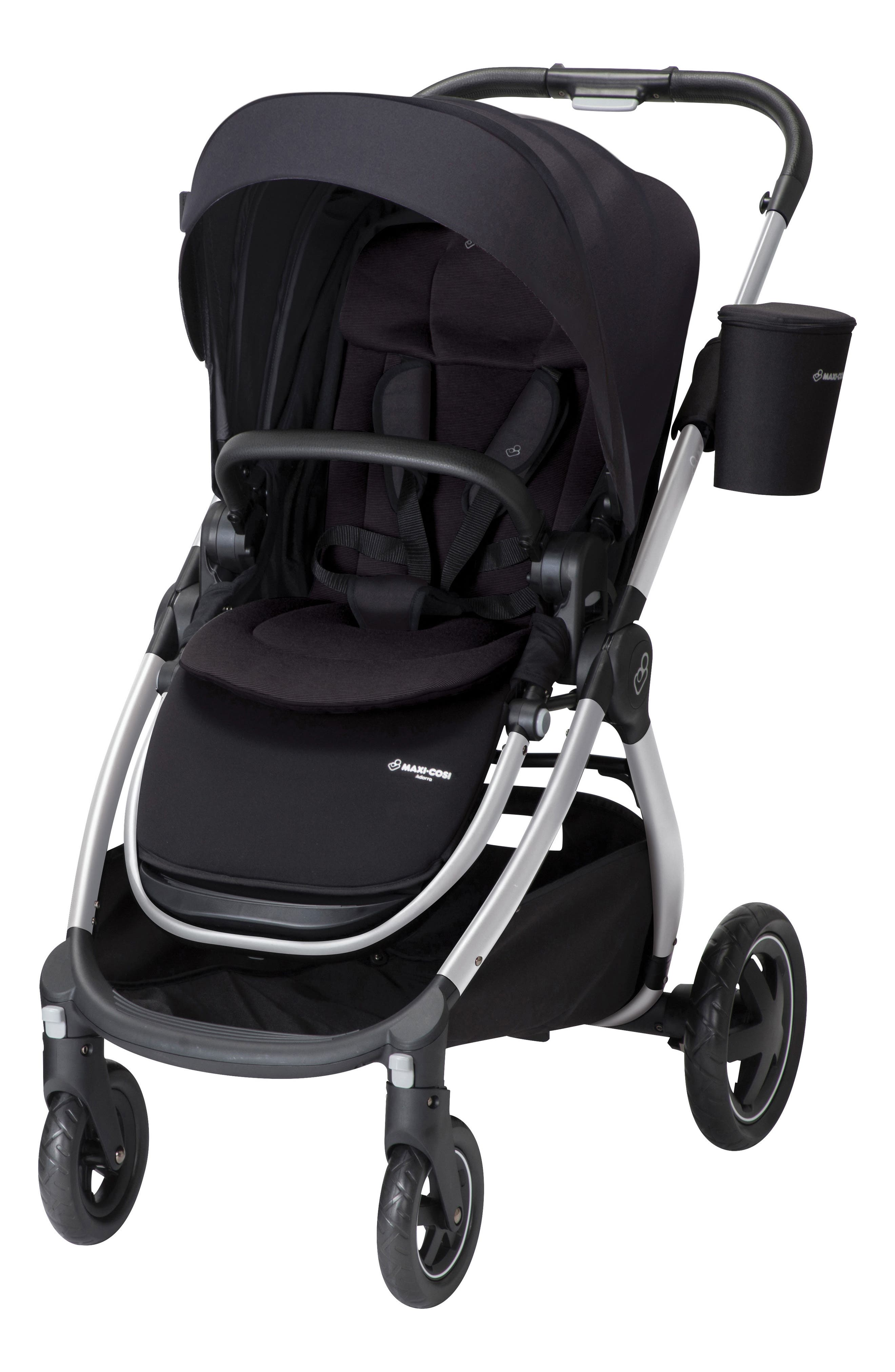 Adorra Nomad Collection Stroller,                             Main thumbnail 1, color,                             NIGHT BLACK