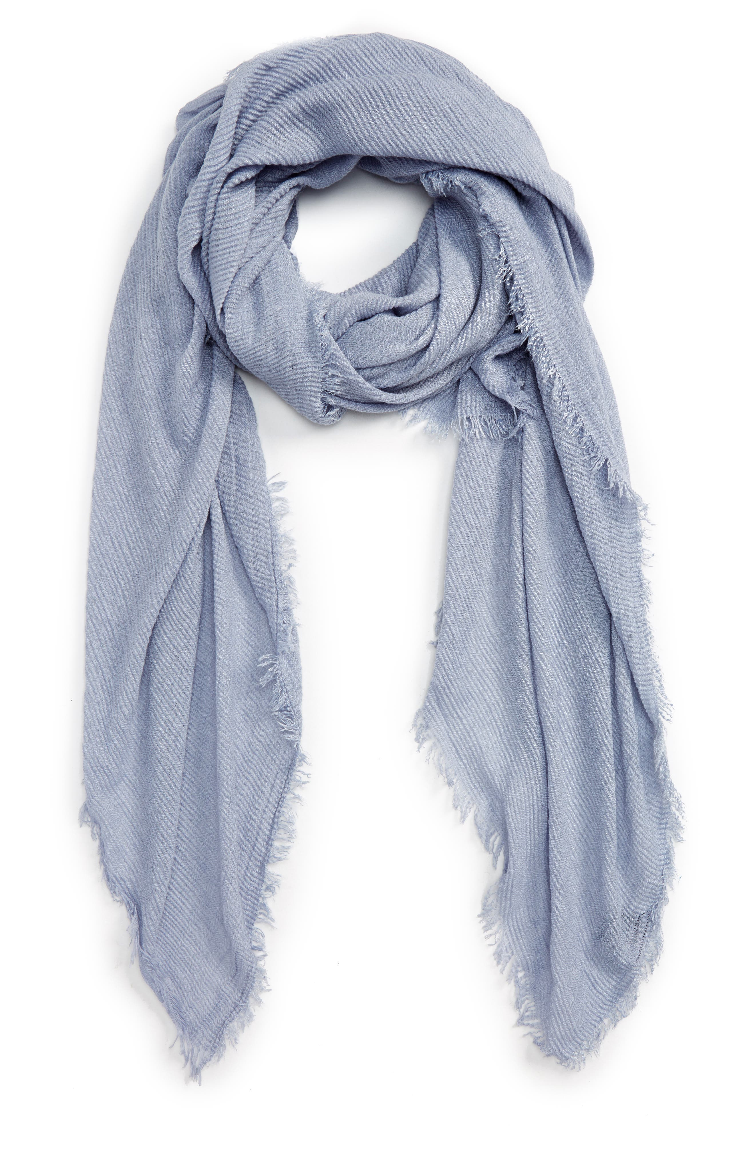 Pleated Fringe Scarf,                             Main thumbnail 5, color,