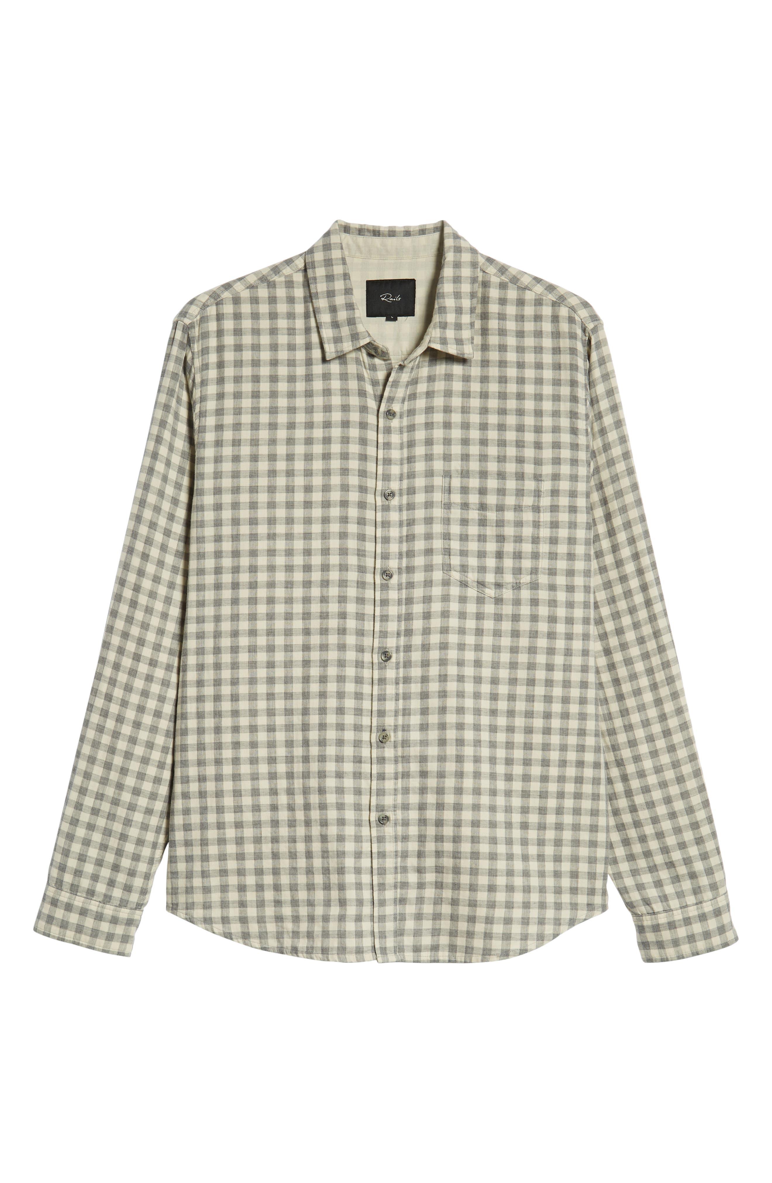 Connor Regular Fit Check Sport Shirt,                             Alternate thumbnail 5, color,                             EGGSHELL GREY