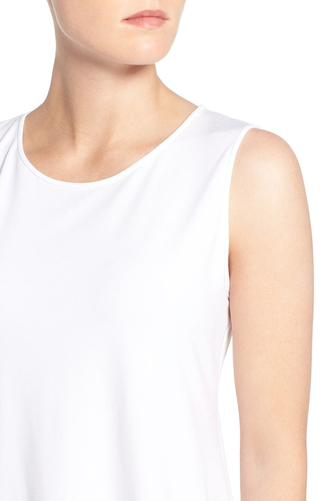 Lightweight Jersey Round Neck Tank,                             Alternate thumbnail 5, color,                             100