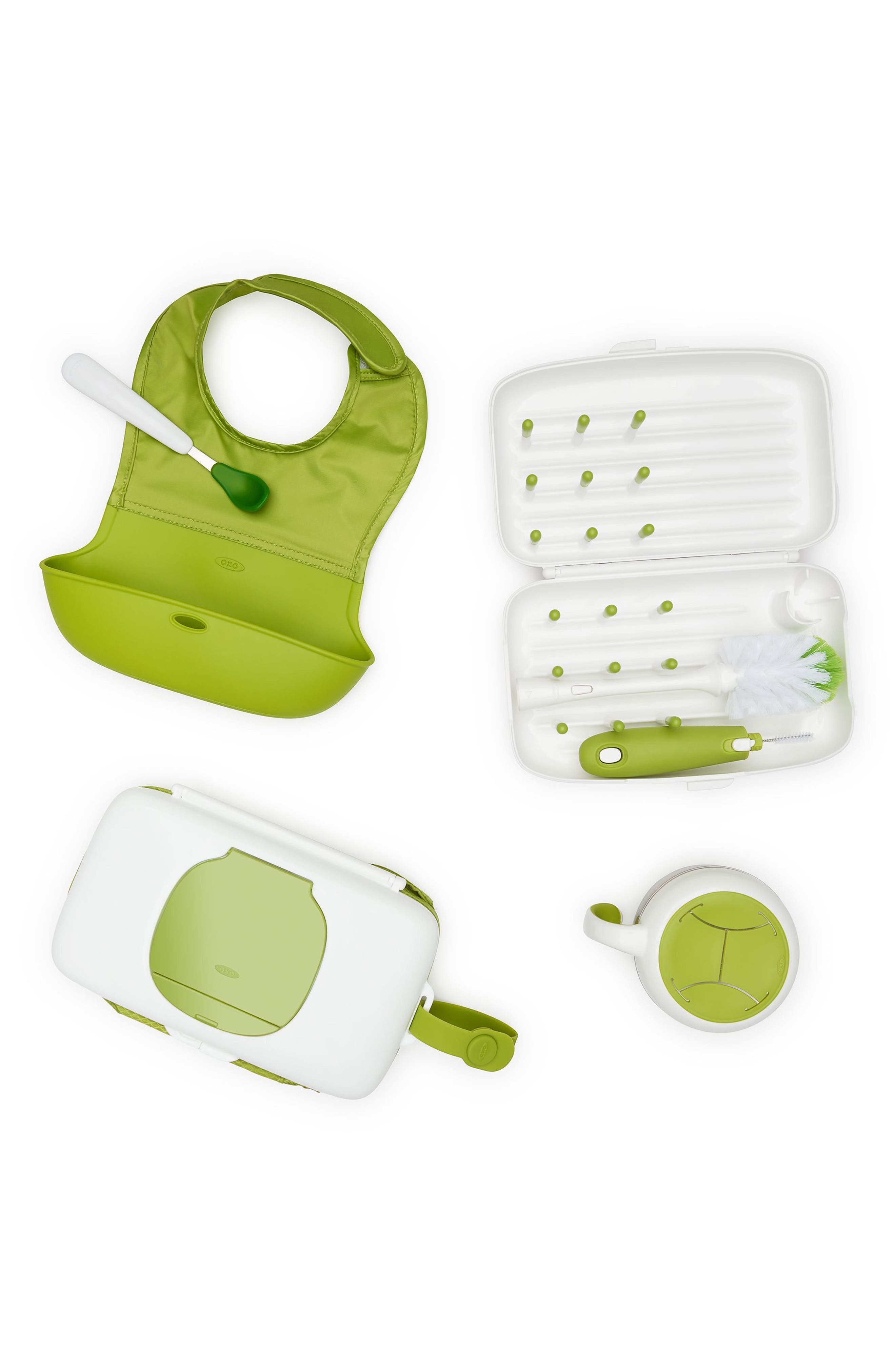 On-the-Go Essentials Gift Set,                             Main thumbnail 1, color,                             WHITE/ GREEN