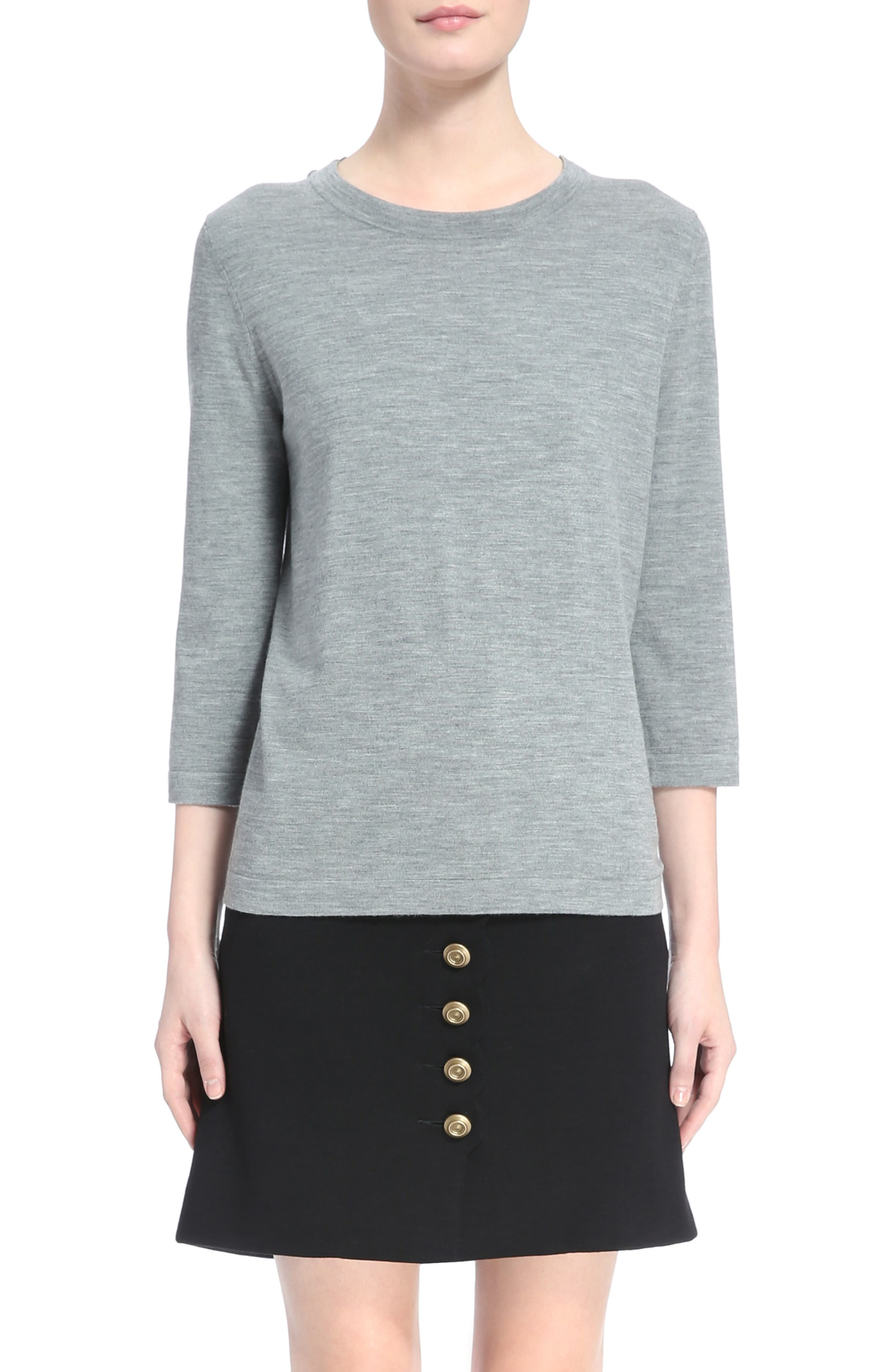 Button Shoulder Wool Sweater,                             Main thumbnail 1, color,                             030