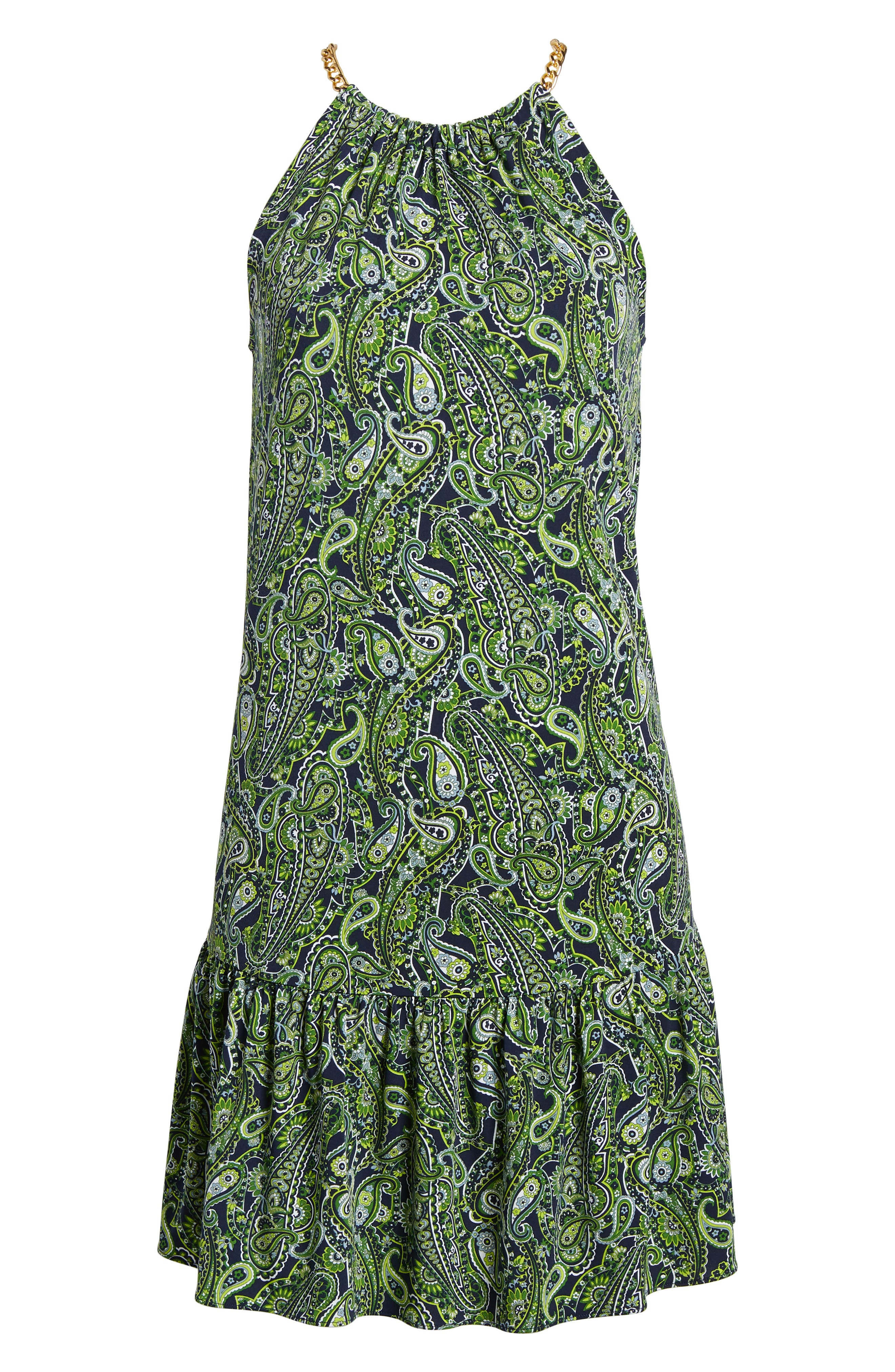 Paisley Paradise Drop Waist Dress,                             Alternate thumbnail 6, color,                             362