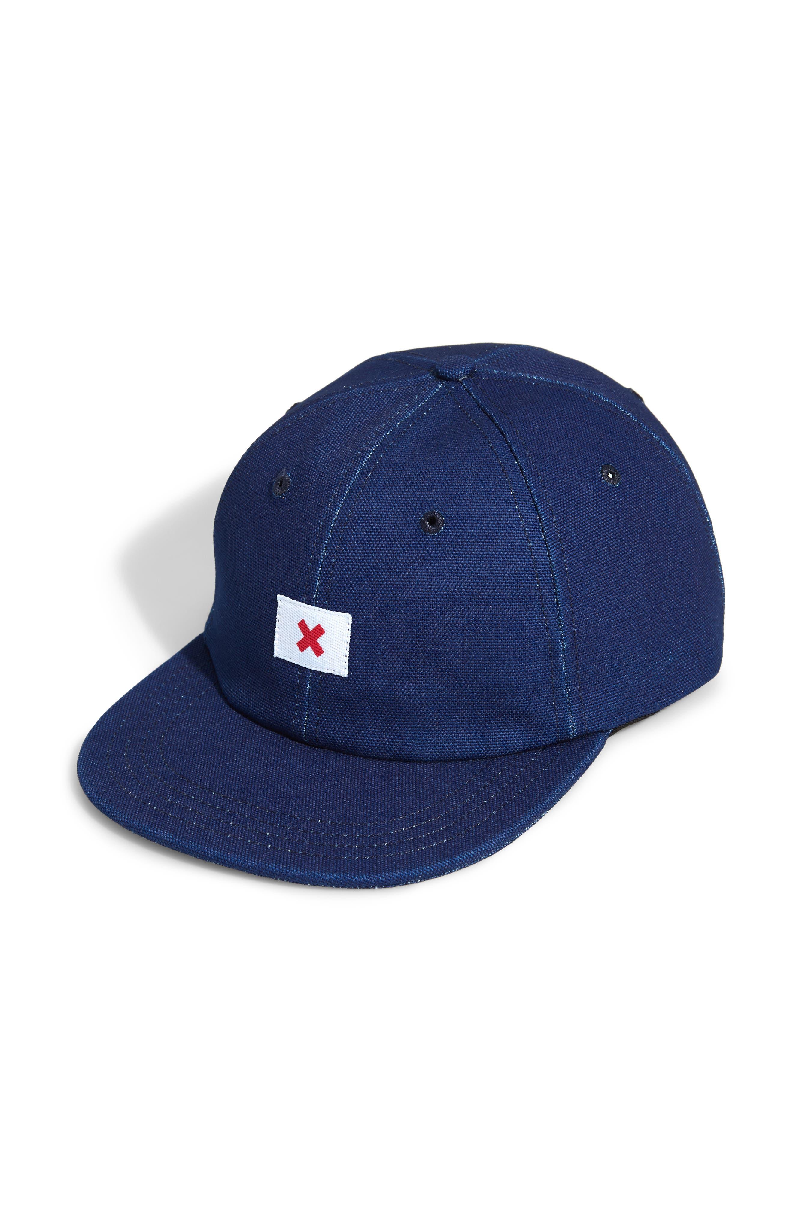 Kojima Canvas Baseball Cap,                         Main,                         color, INDIGO