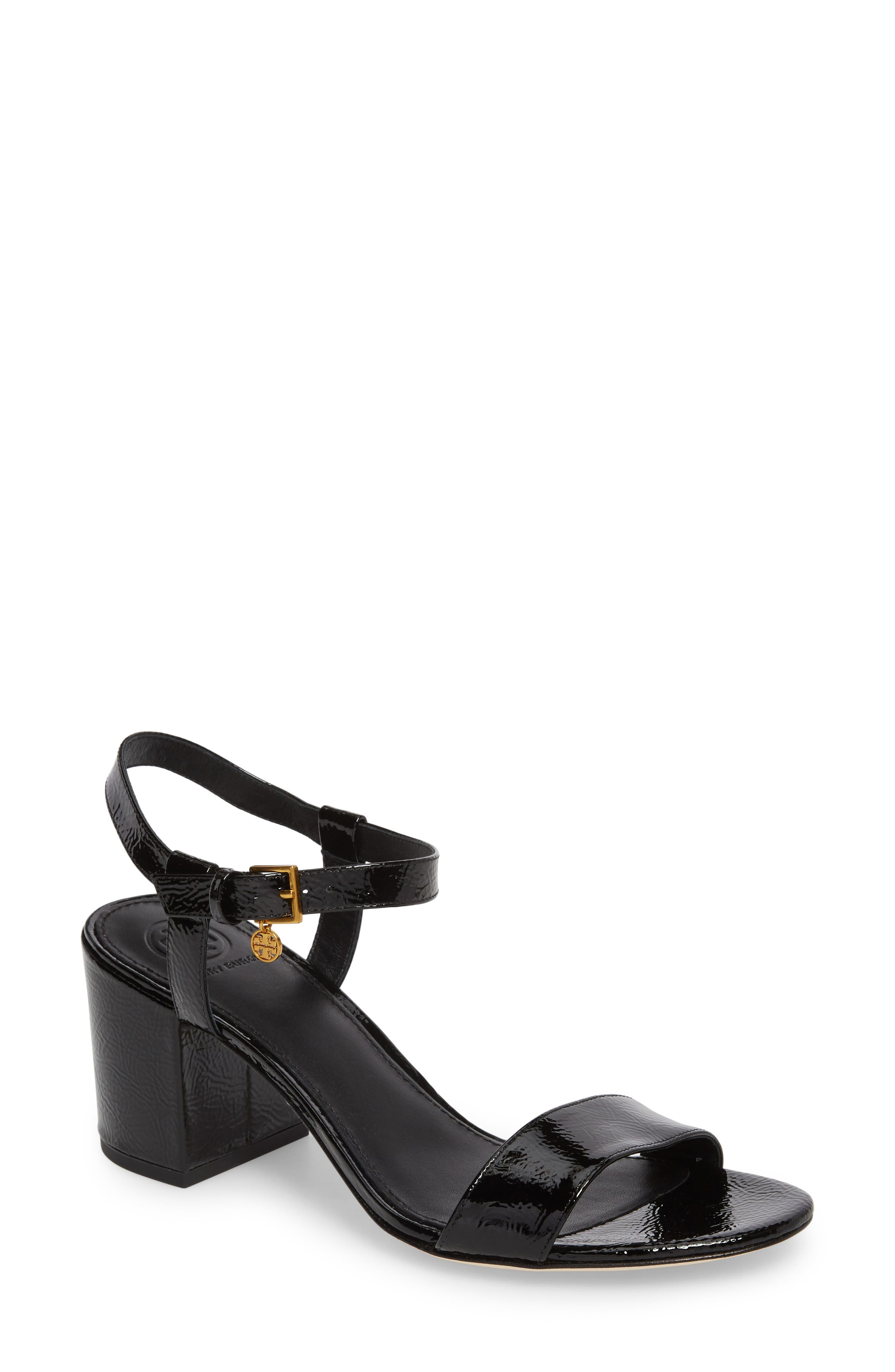 Laurel Ankle Strap Sandal,                             Main thumbnail 1, color,                             BLACK
