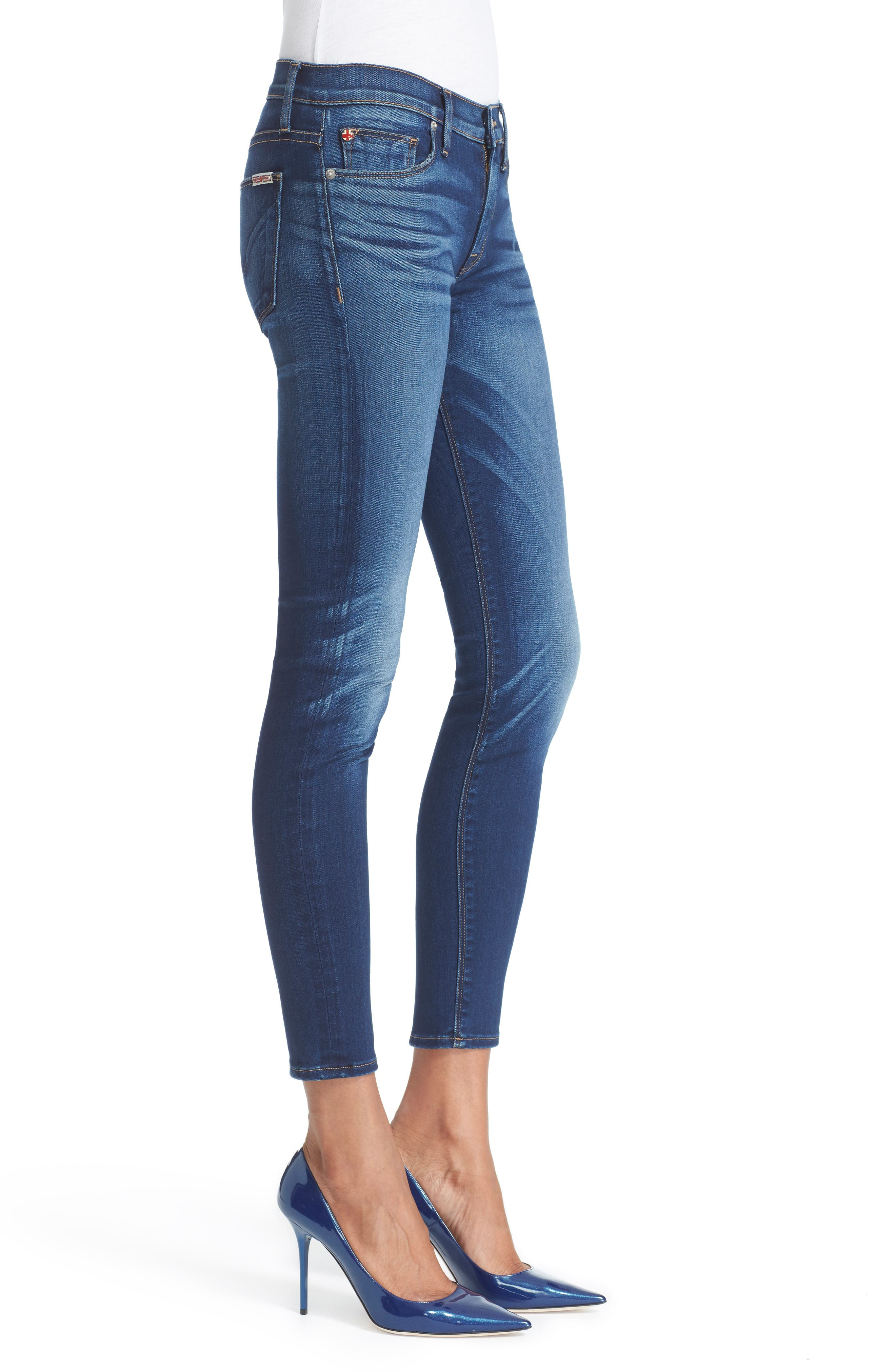 'Nico' Ankle Skinny Jeans,                             Alternate thumbnail 4, color,                             421