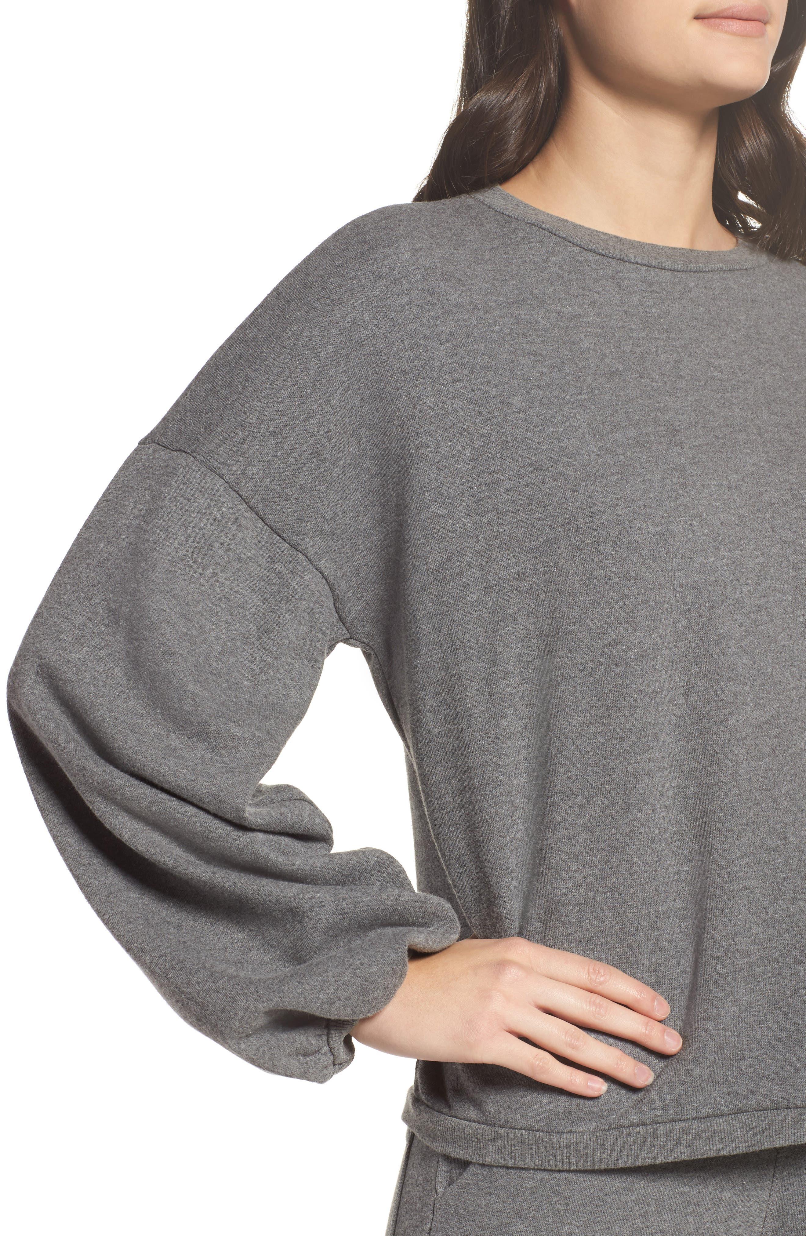 Puff Sleeve Sweatshirt,                             Alternate thumbnail 4, color,                             020