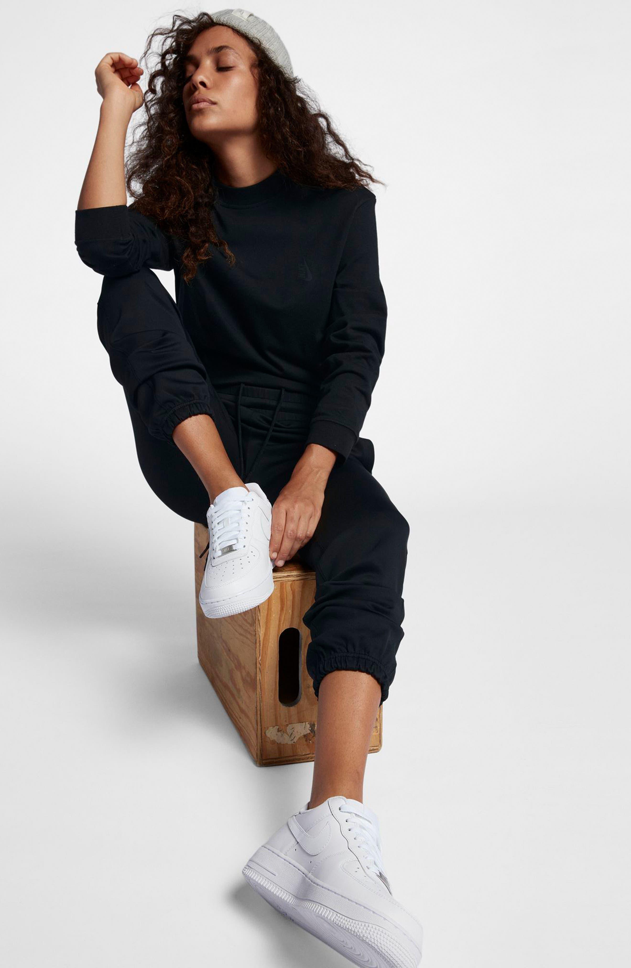 NikeLab Essentials Women's Long Sleeve Mock Neck Tee,                             Alternate thumbnail 3, color,                             010