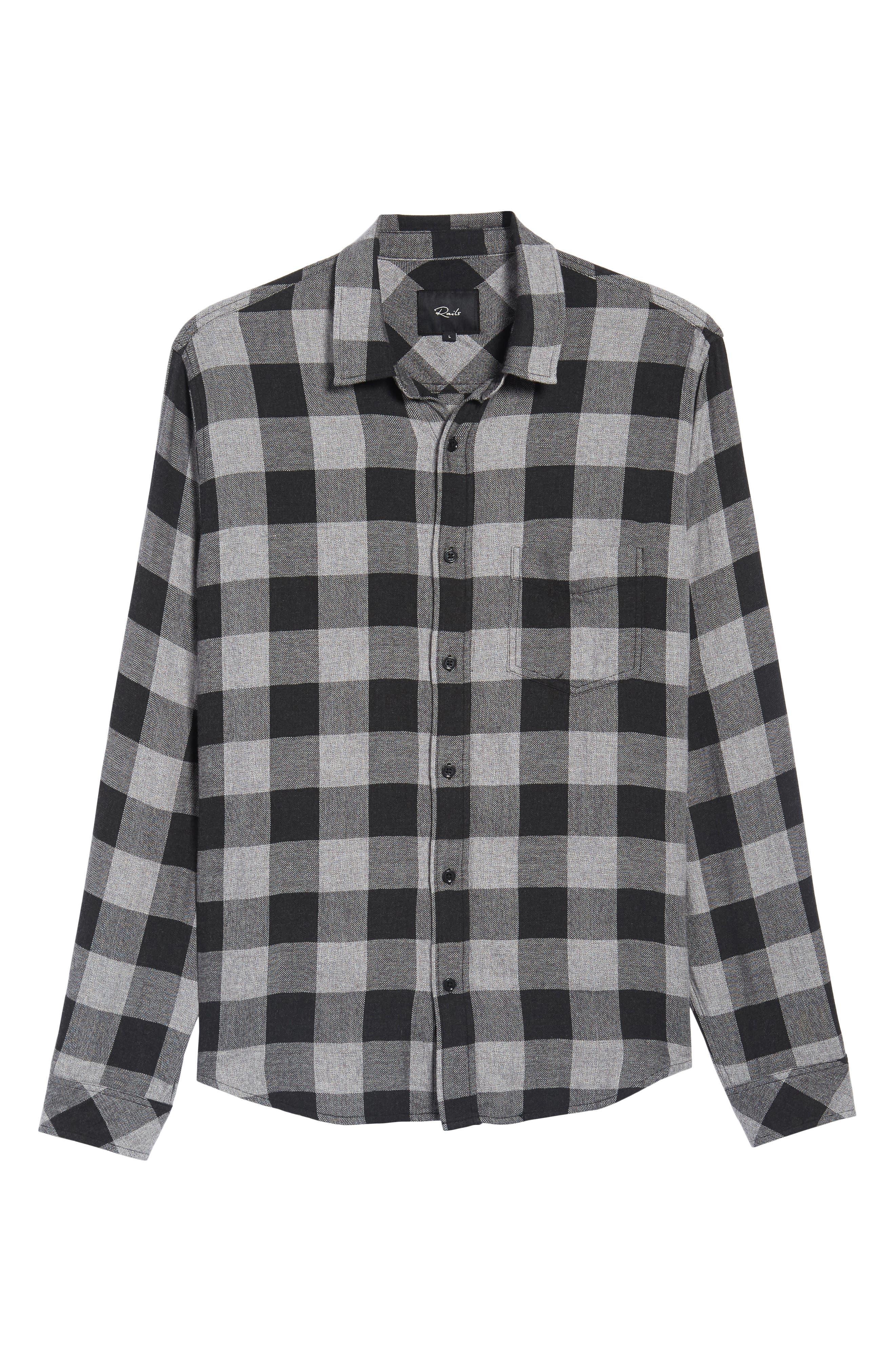 Lennox Sport Shirt,                             Alternate thumbnail 6, color,                             CHARCOAL/ BLACK CHECK