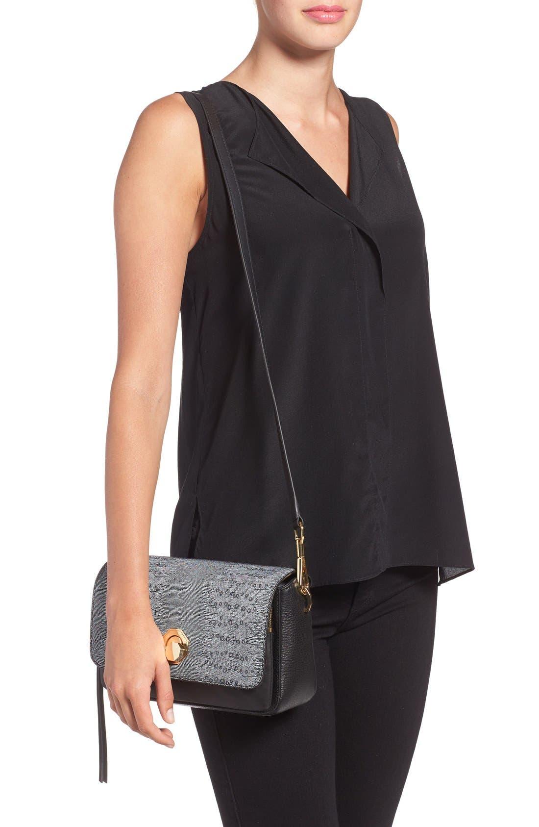 'Small Alis' Leather Crossbody Bag,                             Alternate thumbnail 2, color,                             001