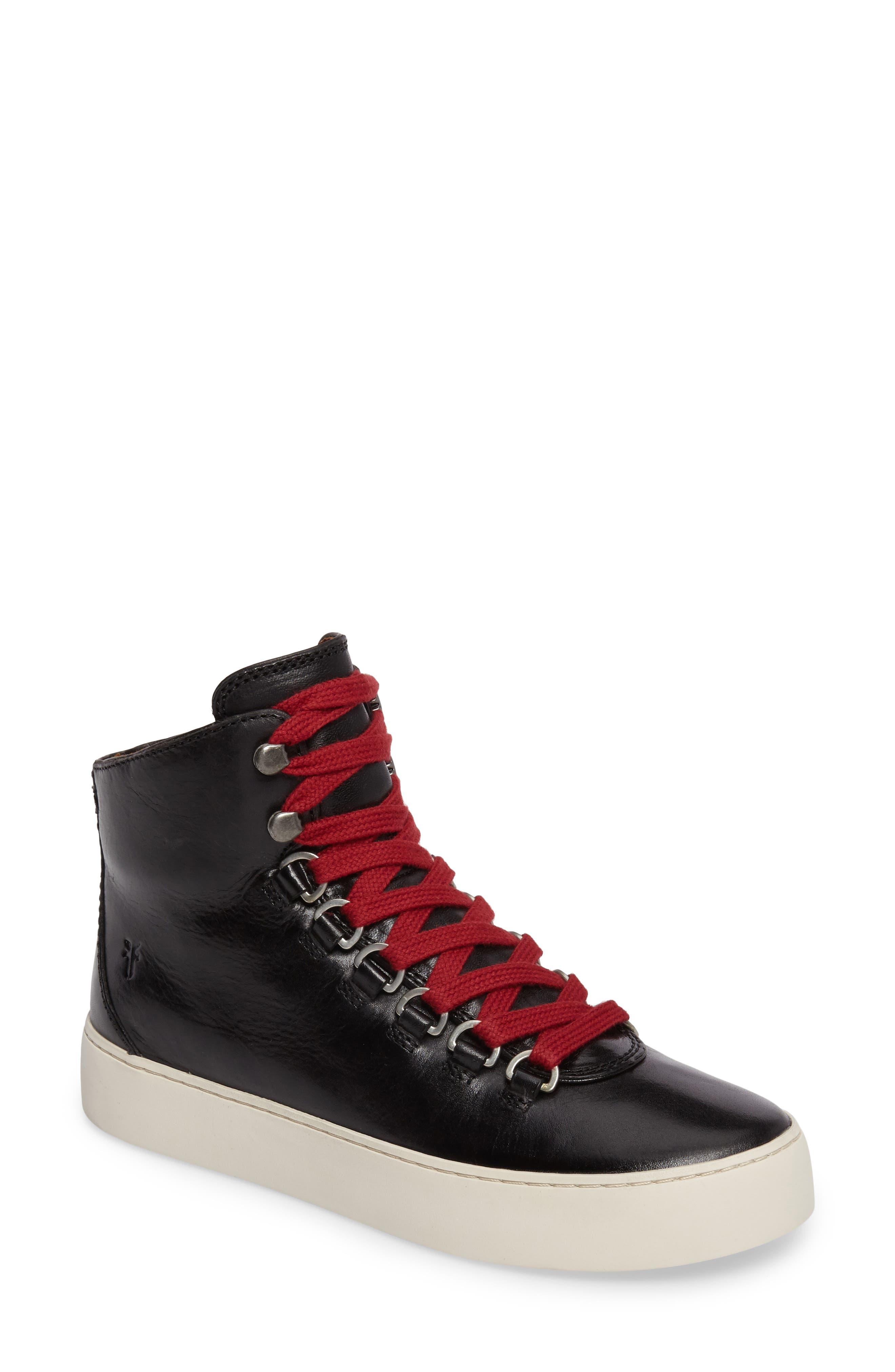 Lena Hiker High Top Sneaker,                         Main,                         color, 001