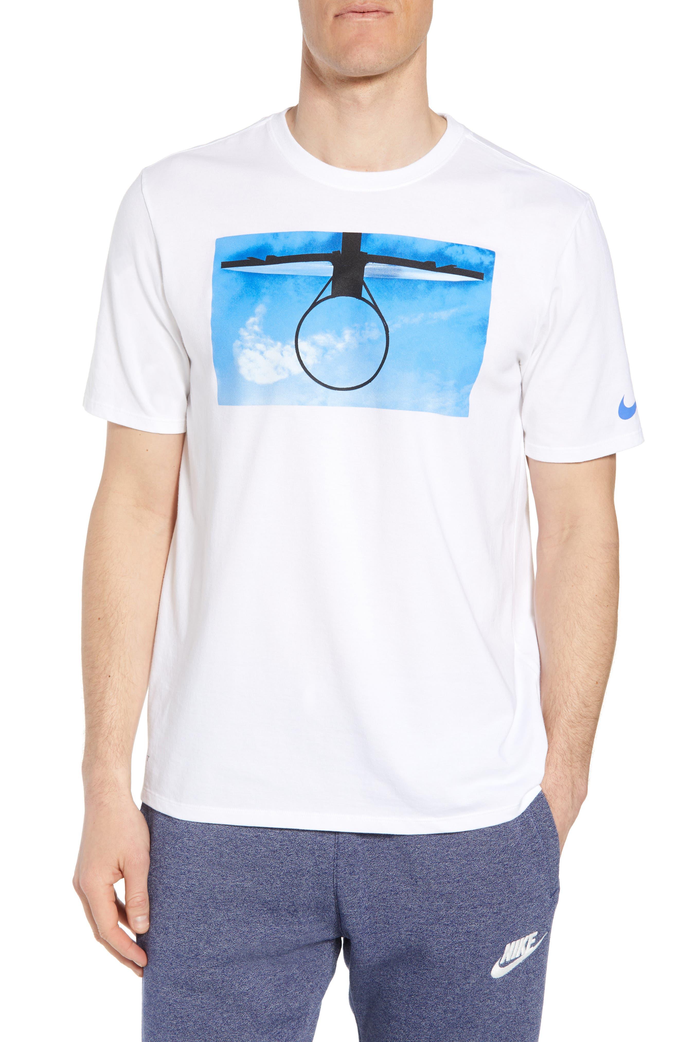 Nike Dri-Fit Basketball Daydream T-Shirt, White